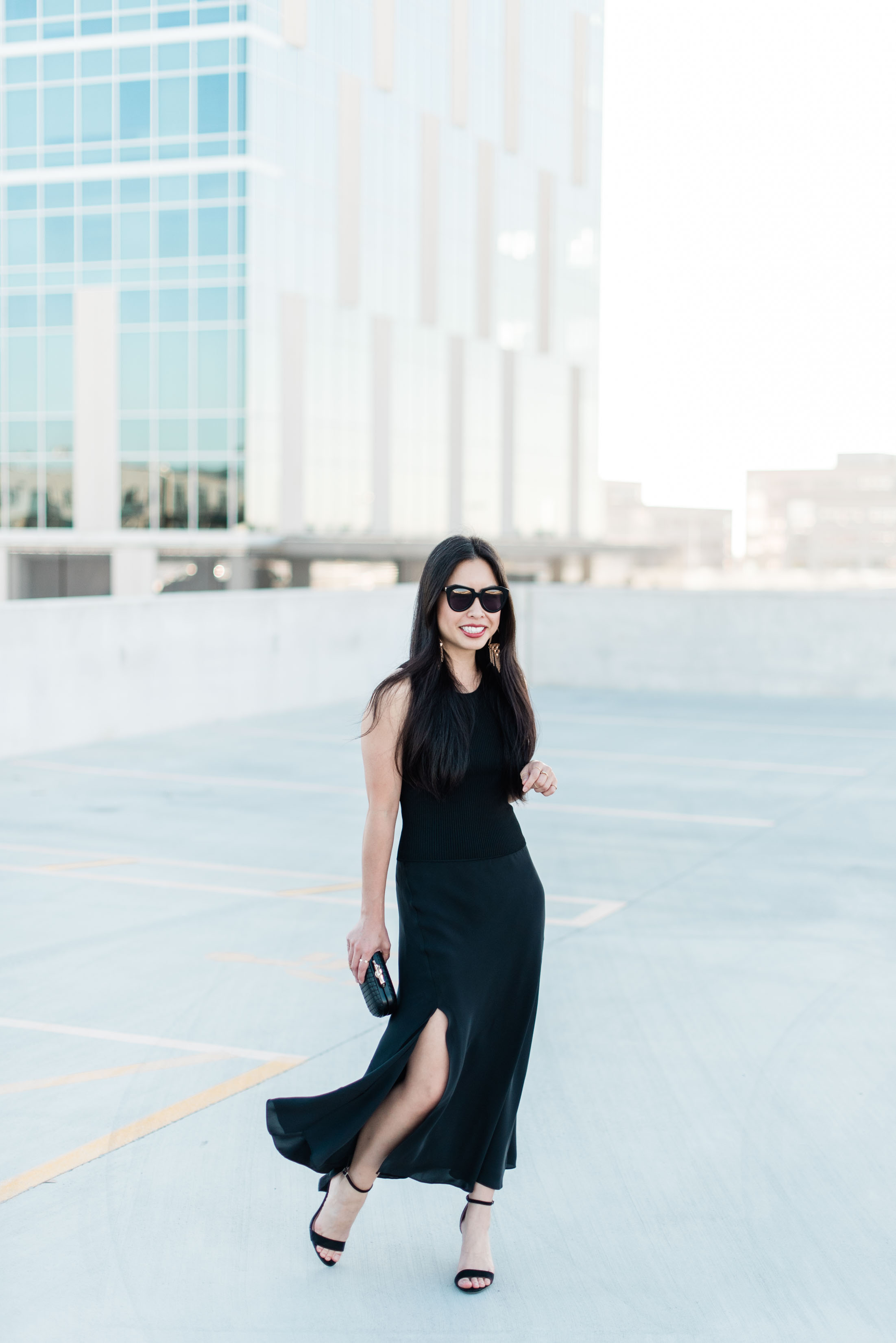 the theory silk combo midi dress -- jannadoan.com