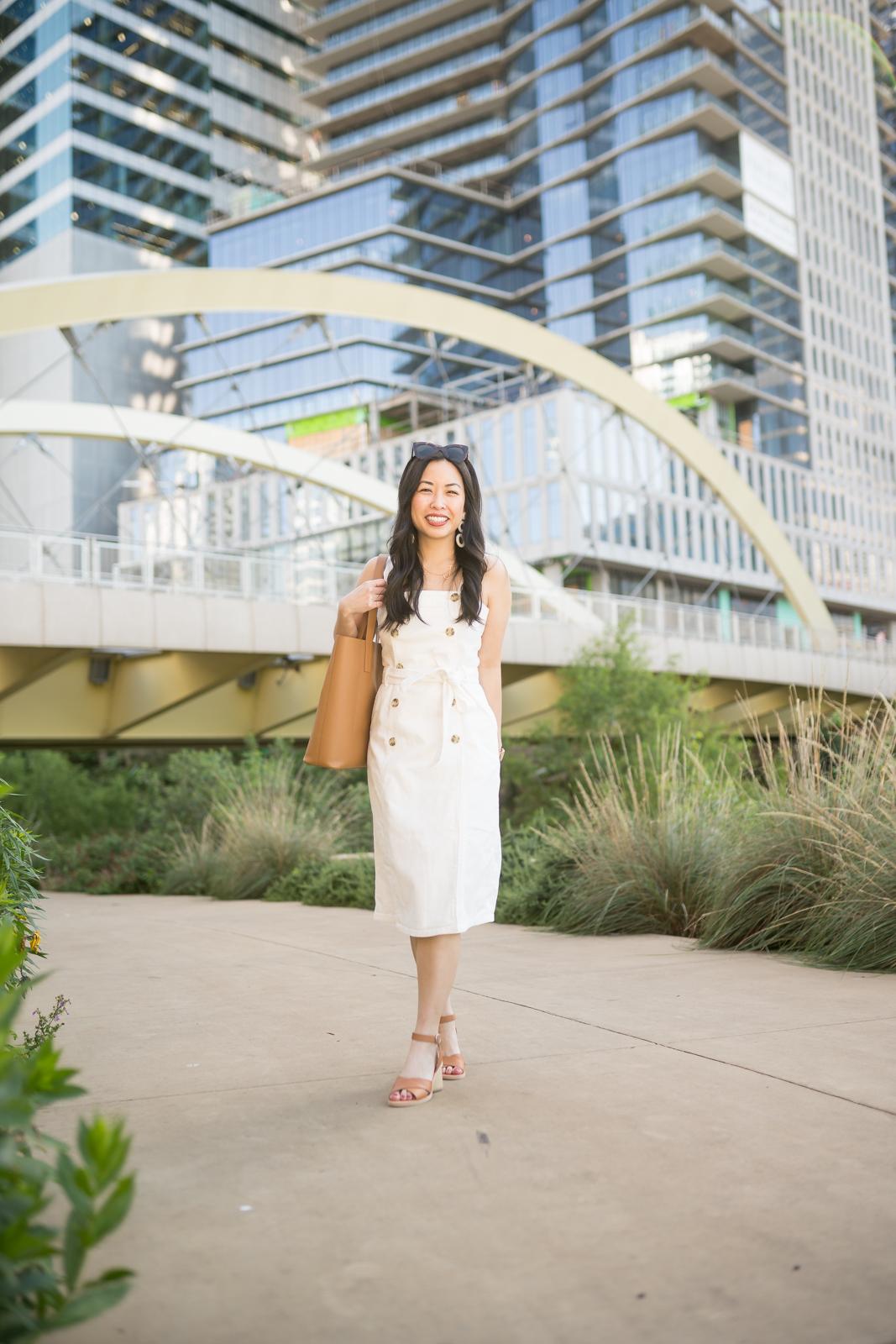 the white denim dress -- jannadoan.com