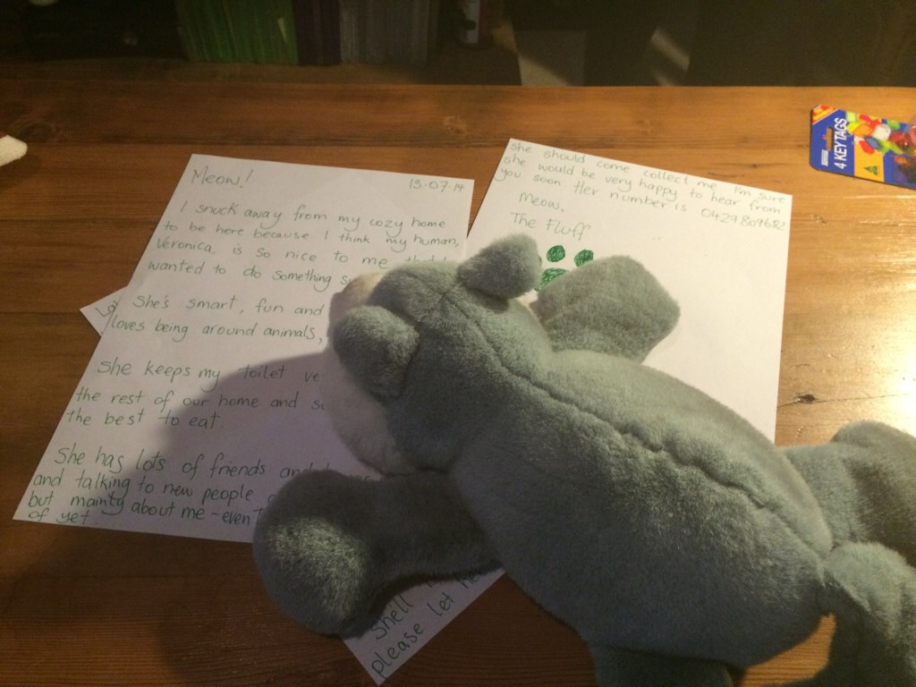 Fluff writing a note