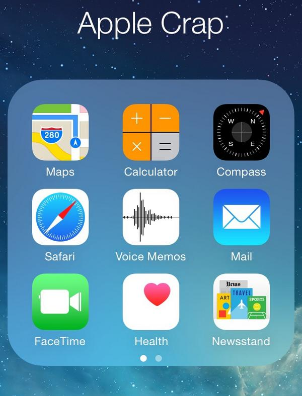 That folder we all have. Although it might have another aim: Apple Crap, Apple Junk, Crapple