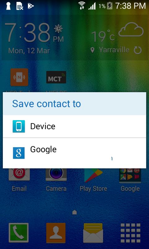 Save contact