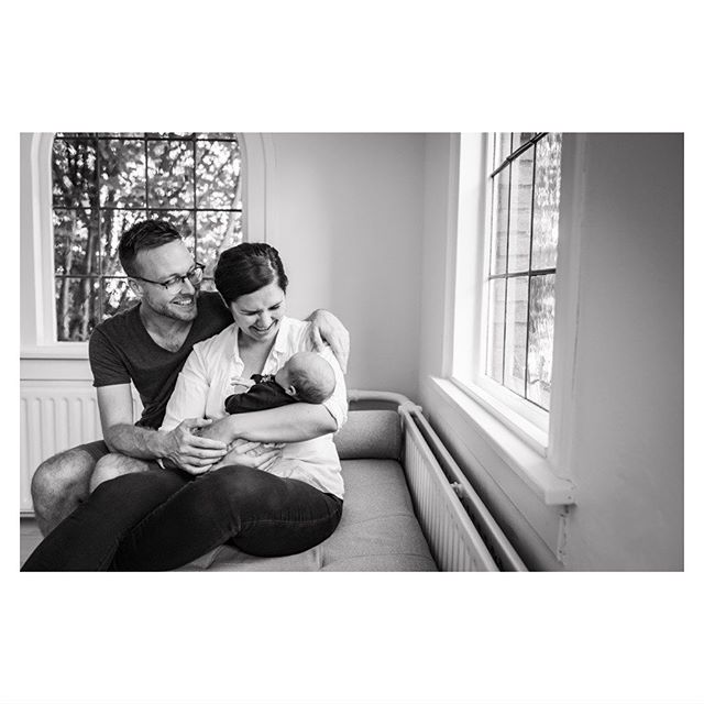 """My love, we're laughing to you, not at you! Swear!"" 🙄😇😍 #blackandwhite #blackandwhitephotography #newborn #parents #baby #newbornshoot #love #parentlove #laugh"