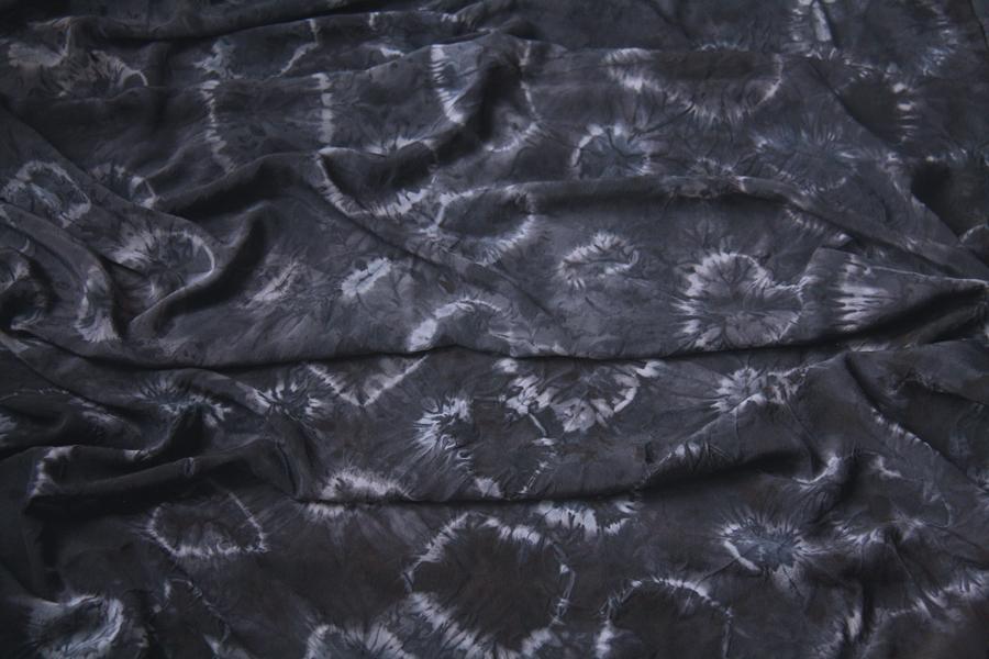 Silk dyed with logwood