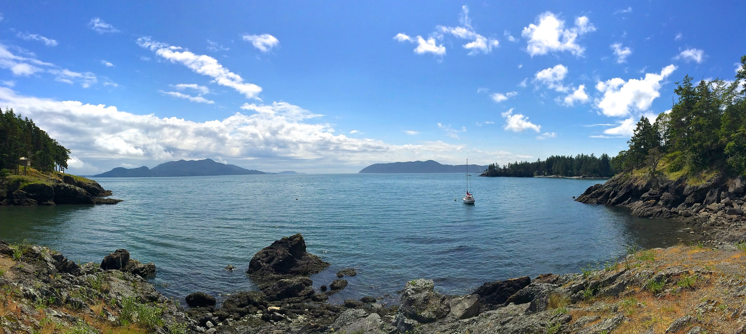 A view from Doe Bay on Orcas Island