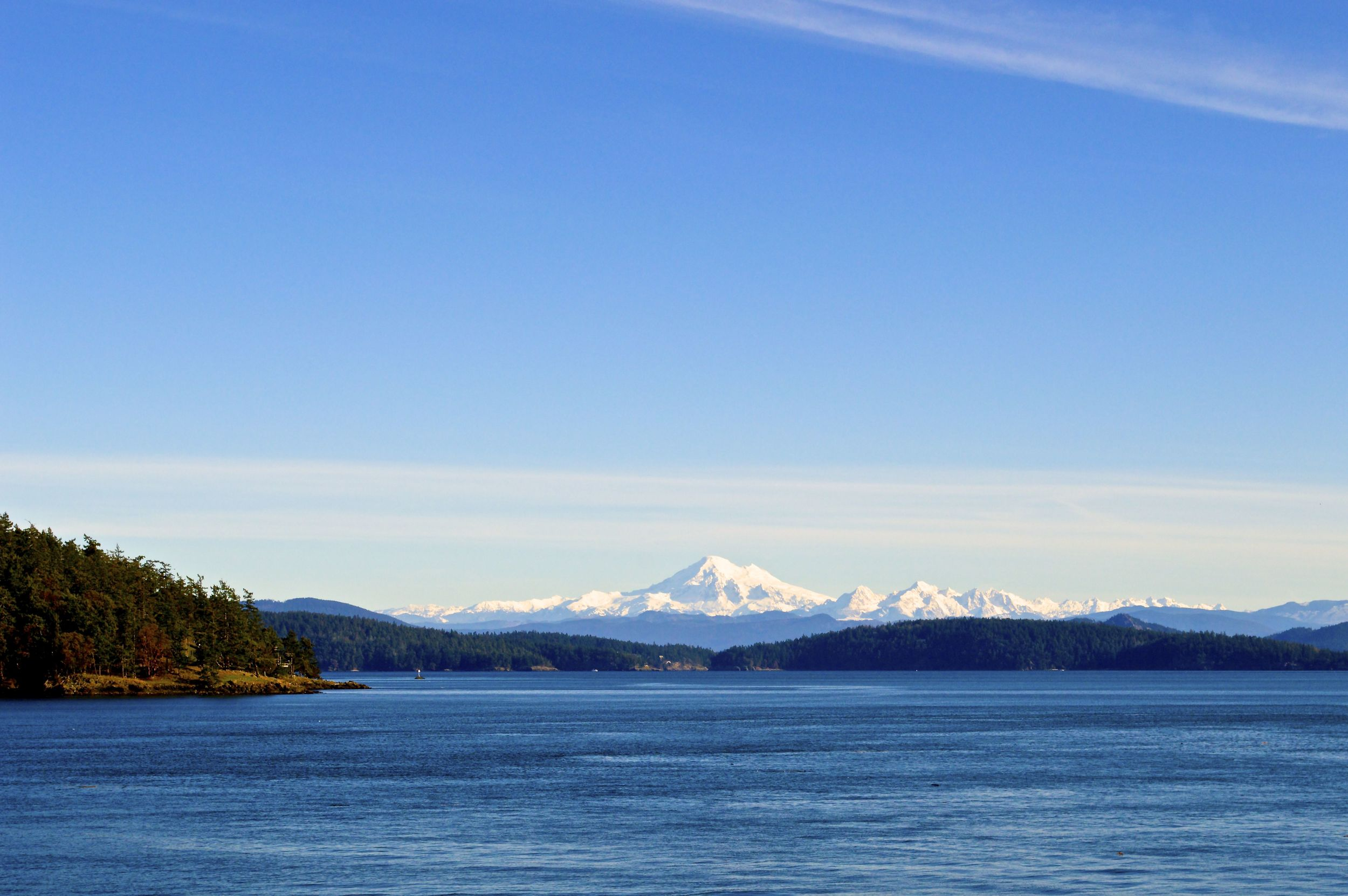 Mt Baker from Ferry