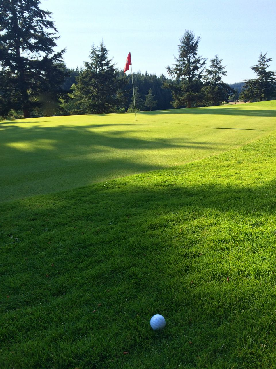 A view from the 9-hole Orcas Island Golf Course