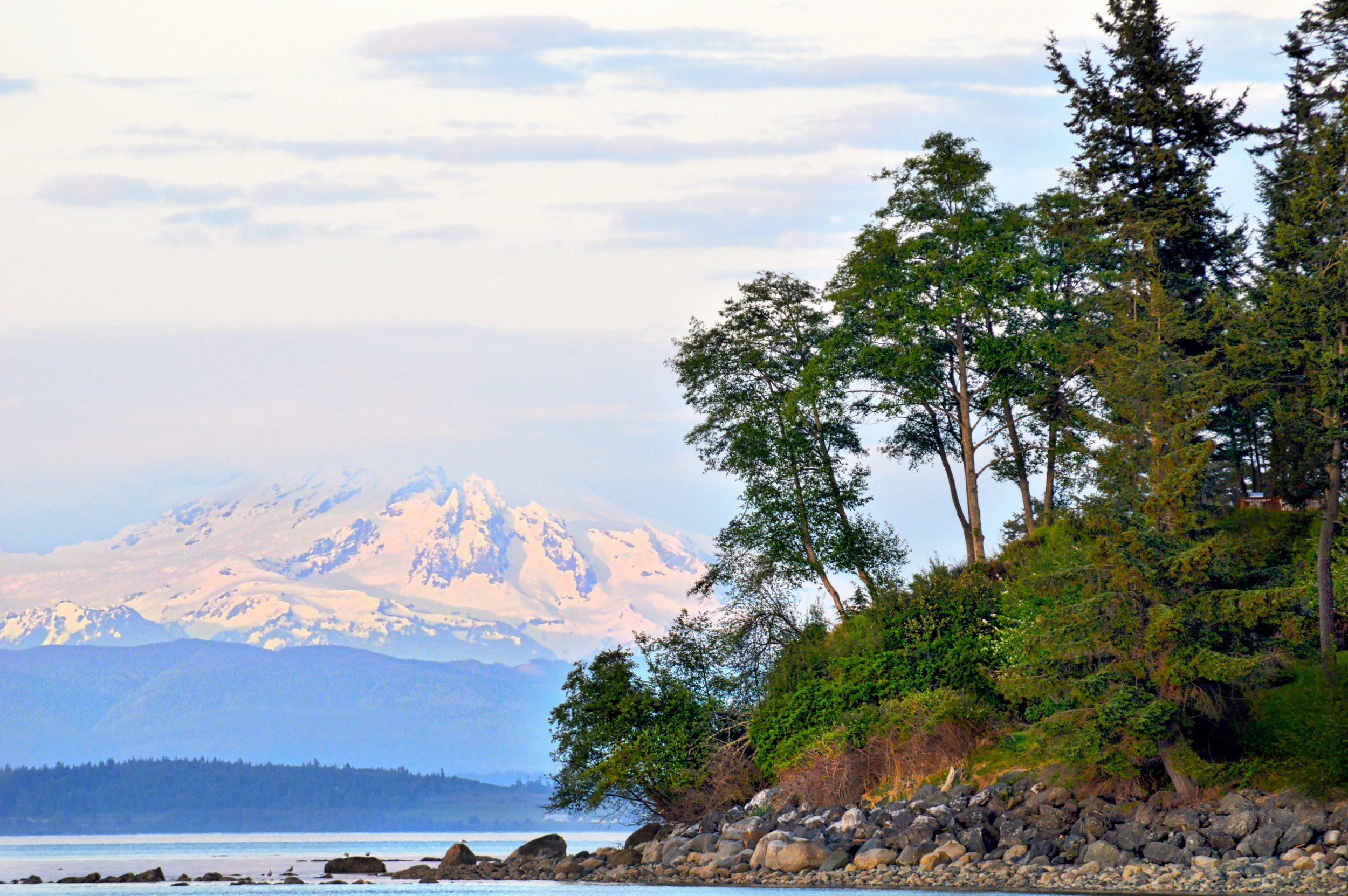 View of Mt Baker from North Beach