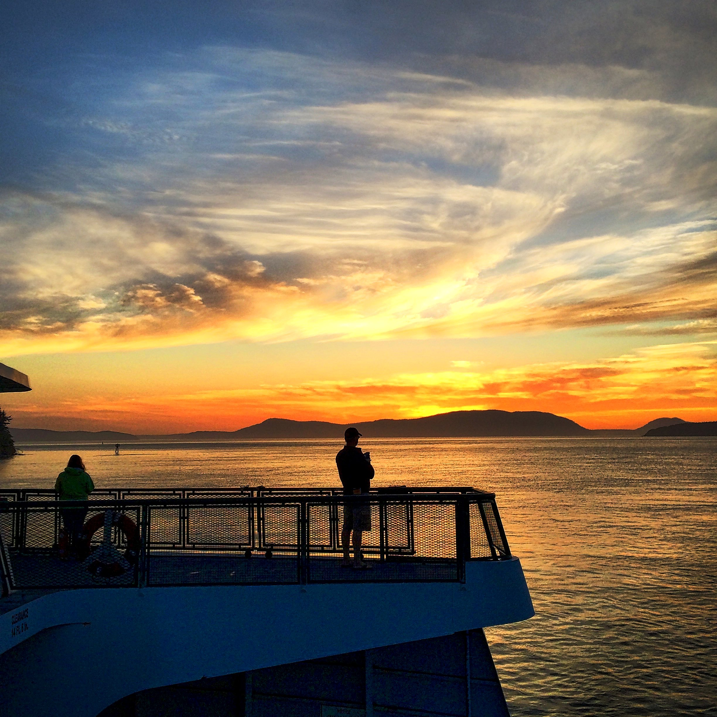 Sunset while on a ferry from Anacortes to Orcas Island.