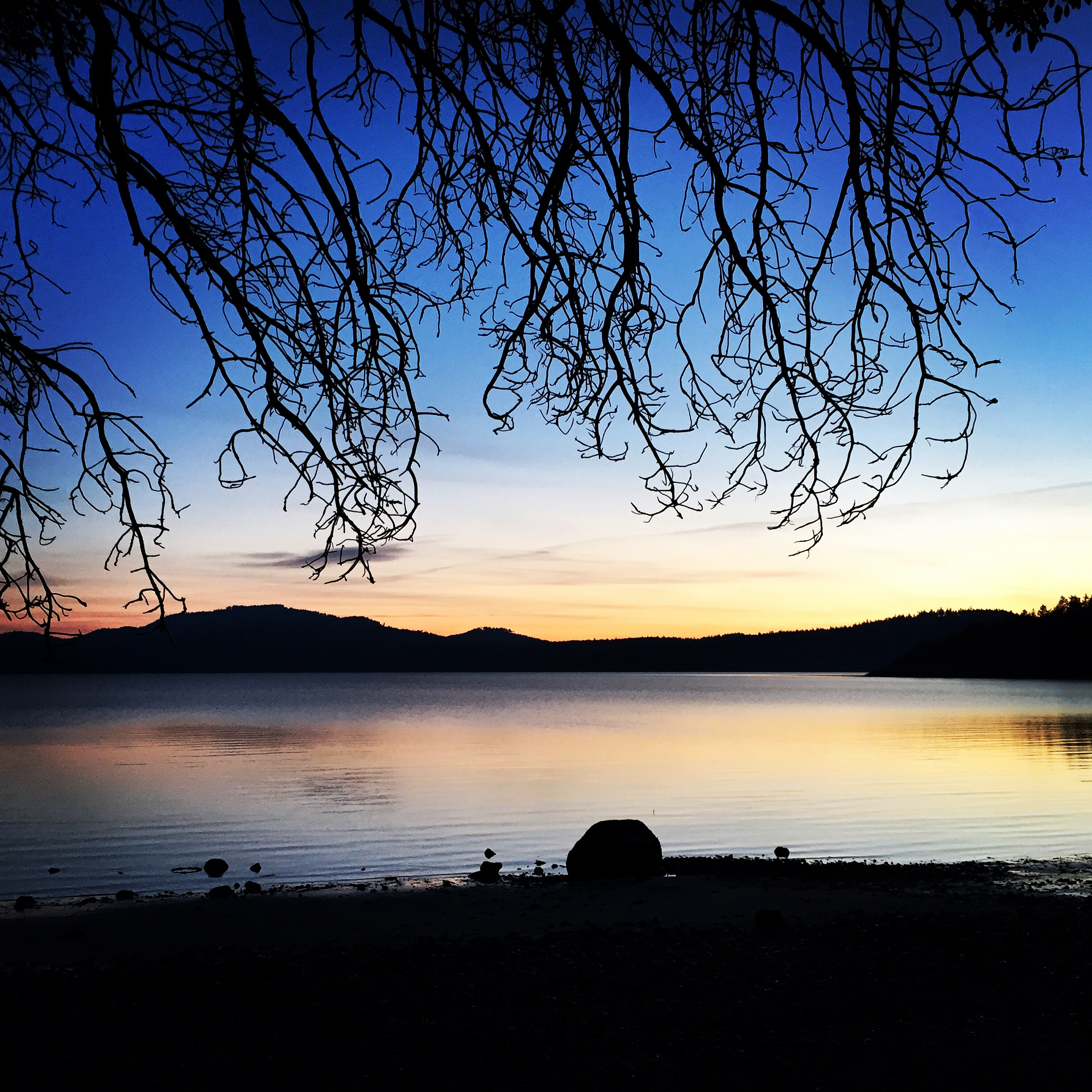 Crescent Beach at sunset - Orcas Island, Washington