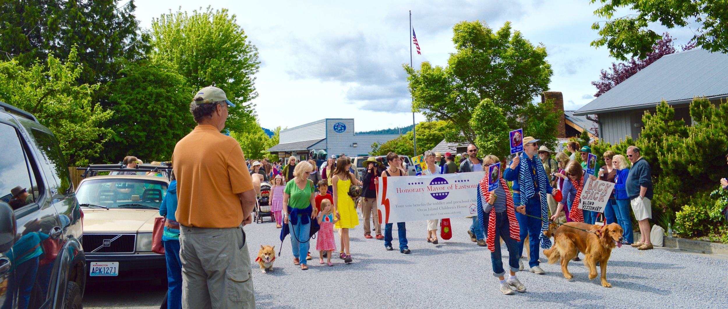 2014 Pet Parade near Eastsound's Village Green