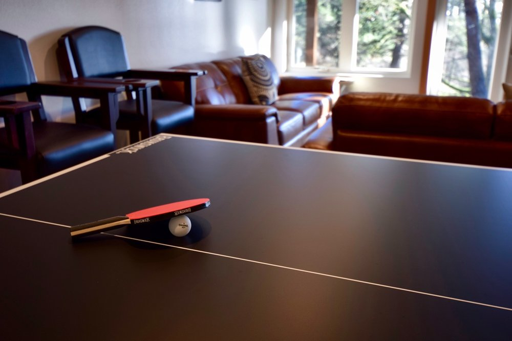 The pong-pong conversion top extends the gaming fun in the recreation room.