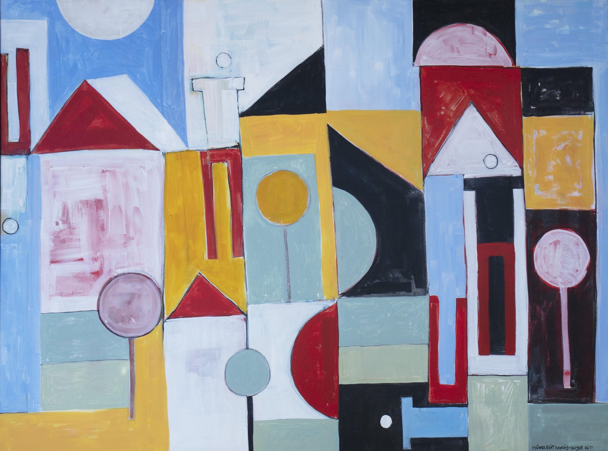 """Four<br> <br>36x48""""<br>acrylic on canvas"""