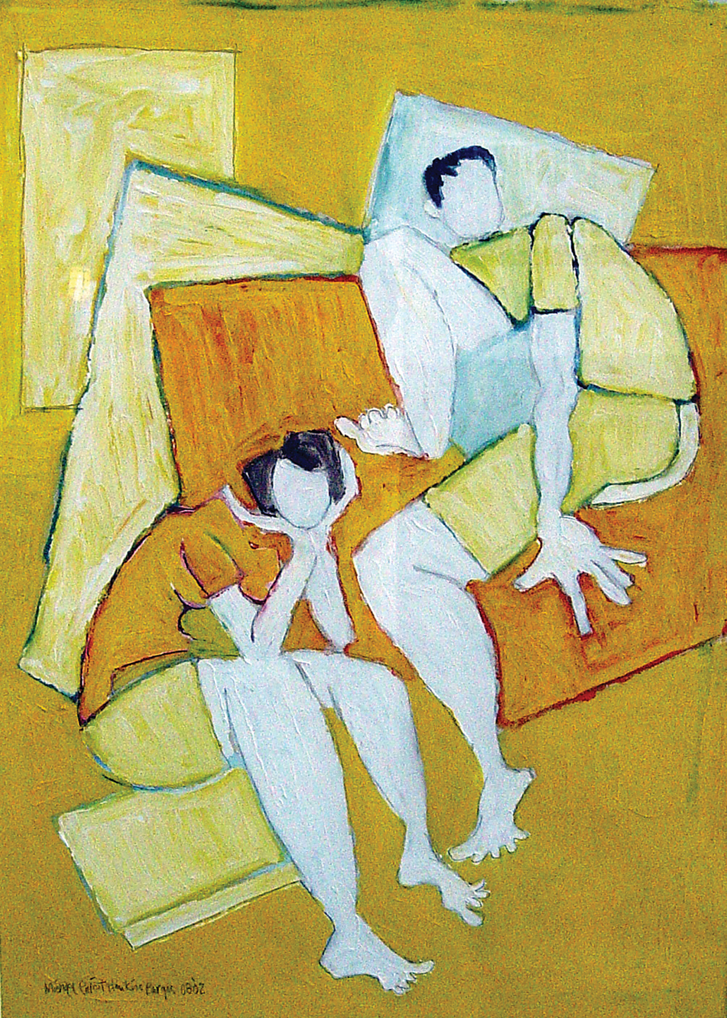 The TV Instead<br> <br>oil on paper<br>SOLD