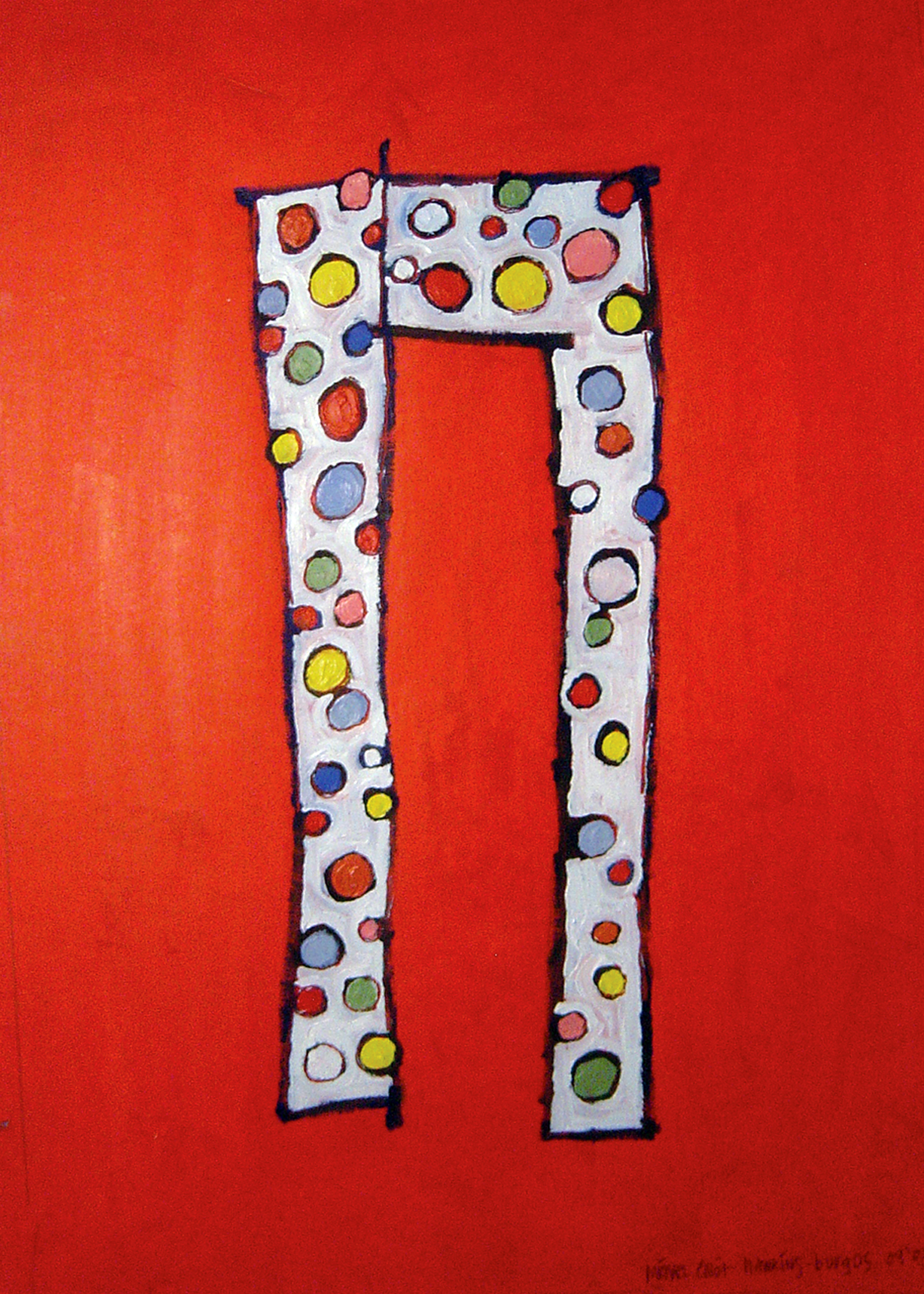 Happy Pants<br> <br>oil on paper<br>SOLD