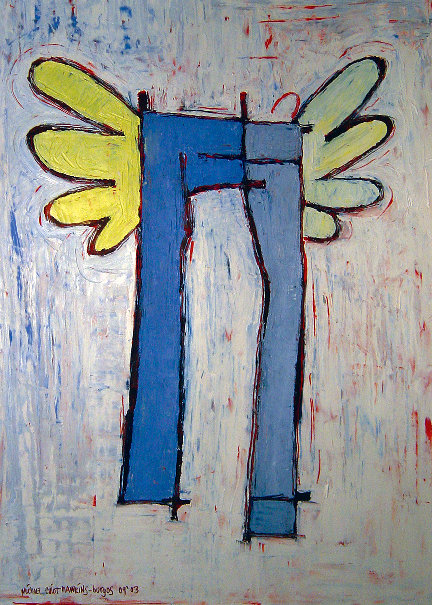 Pants with Wings<br> <br>oil on paper<br>SOLD
