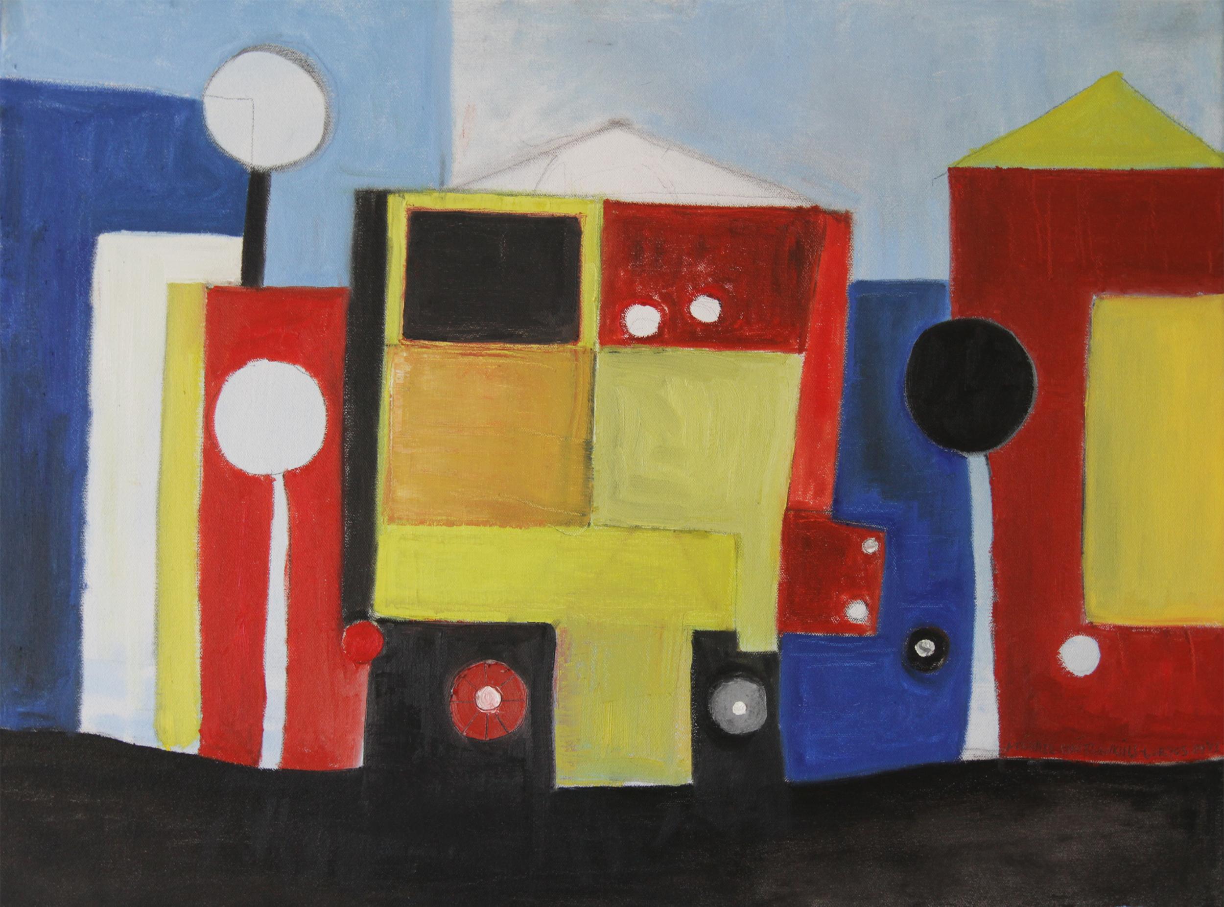 Traffic Block<br> <br>oil on canvas