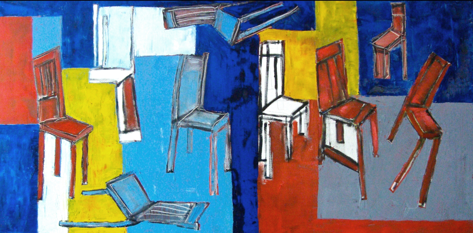 Chairs in a Hall<br> <br>oil on canvas