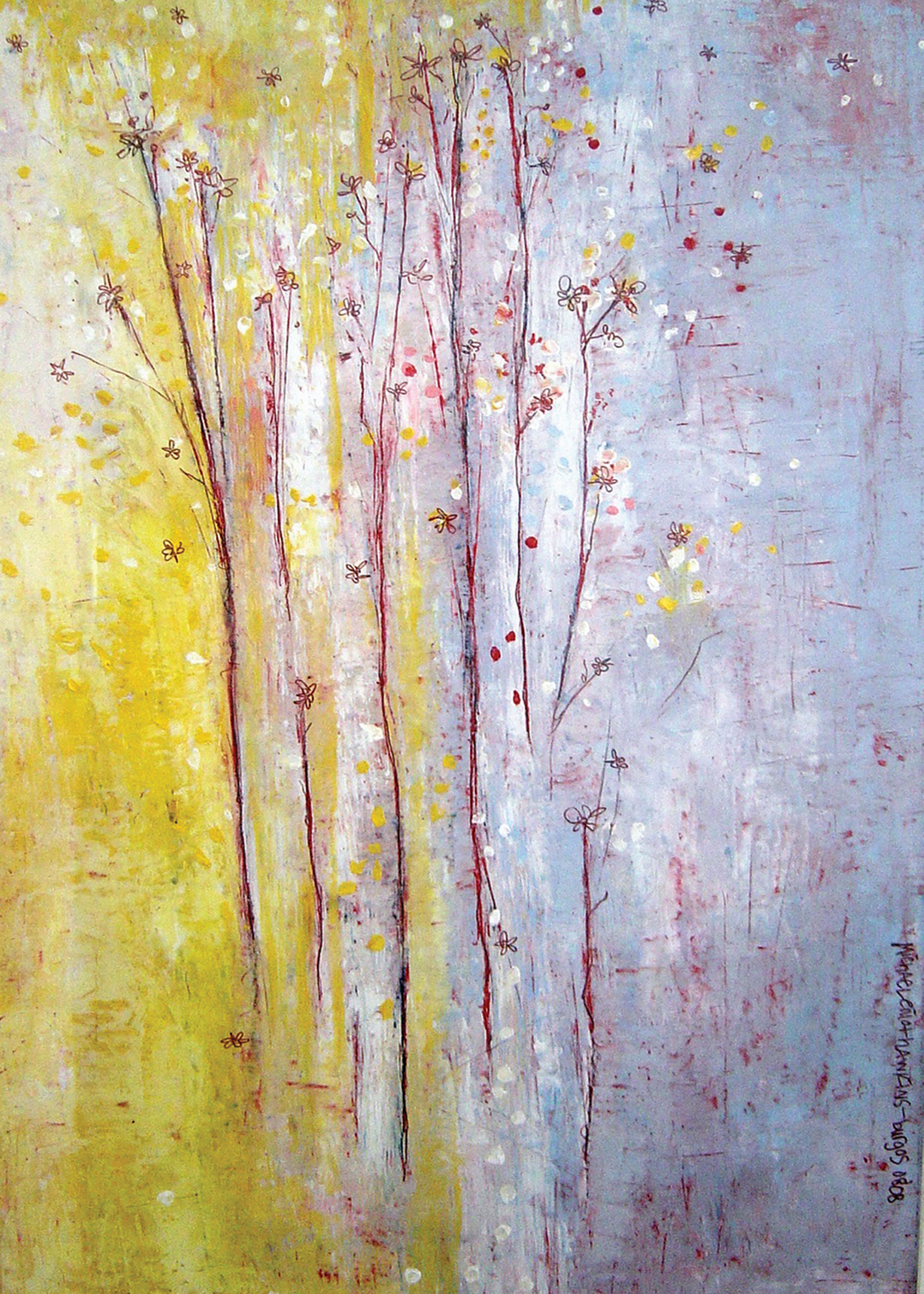 Dried Flowers<br> <br>oil on paper<br>SOLD