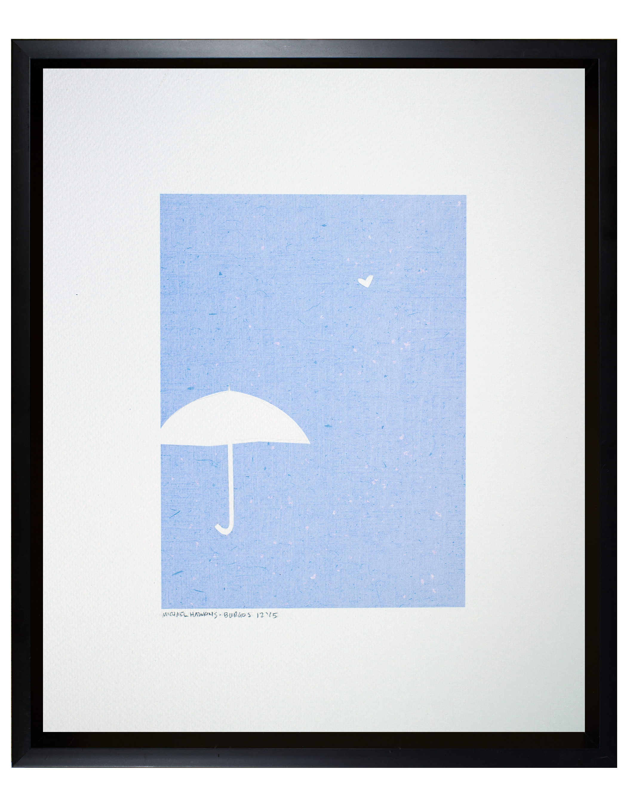 """Love and an Umbrella<br> <br>11x14"""""""