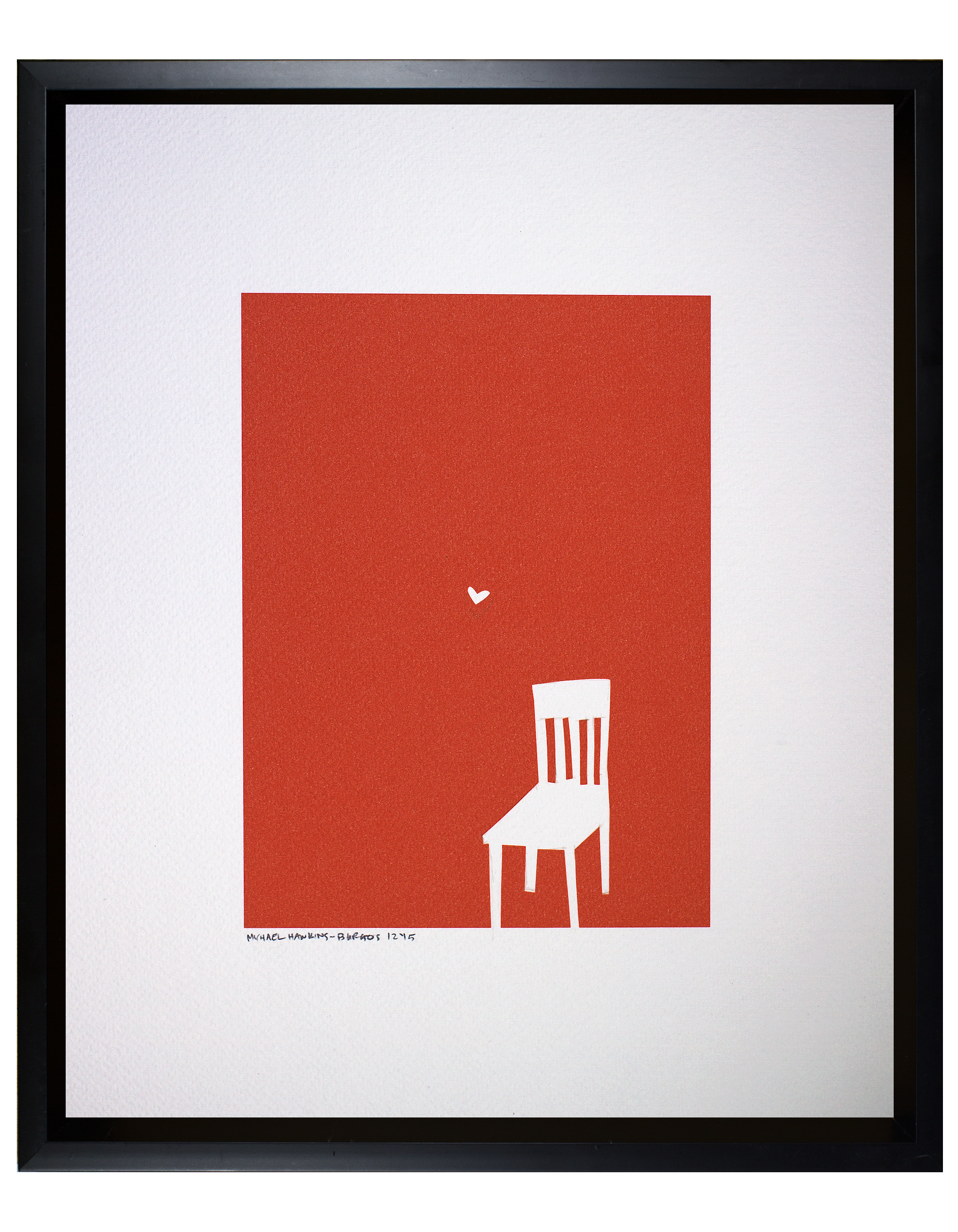 """Love and a Chair<br> <br>11x14"""""""