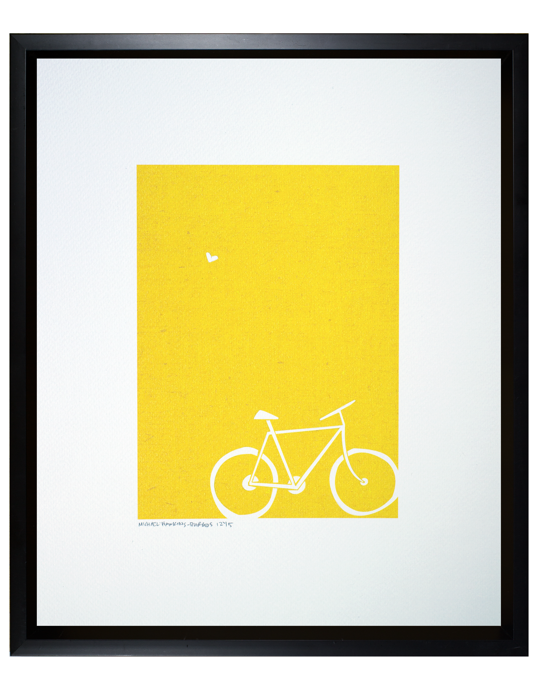 """Love and a Bike<br> <br>11x14"""""""