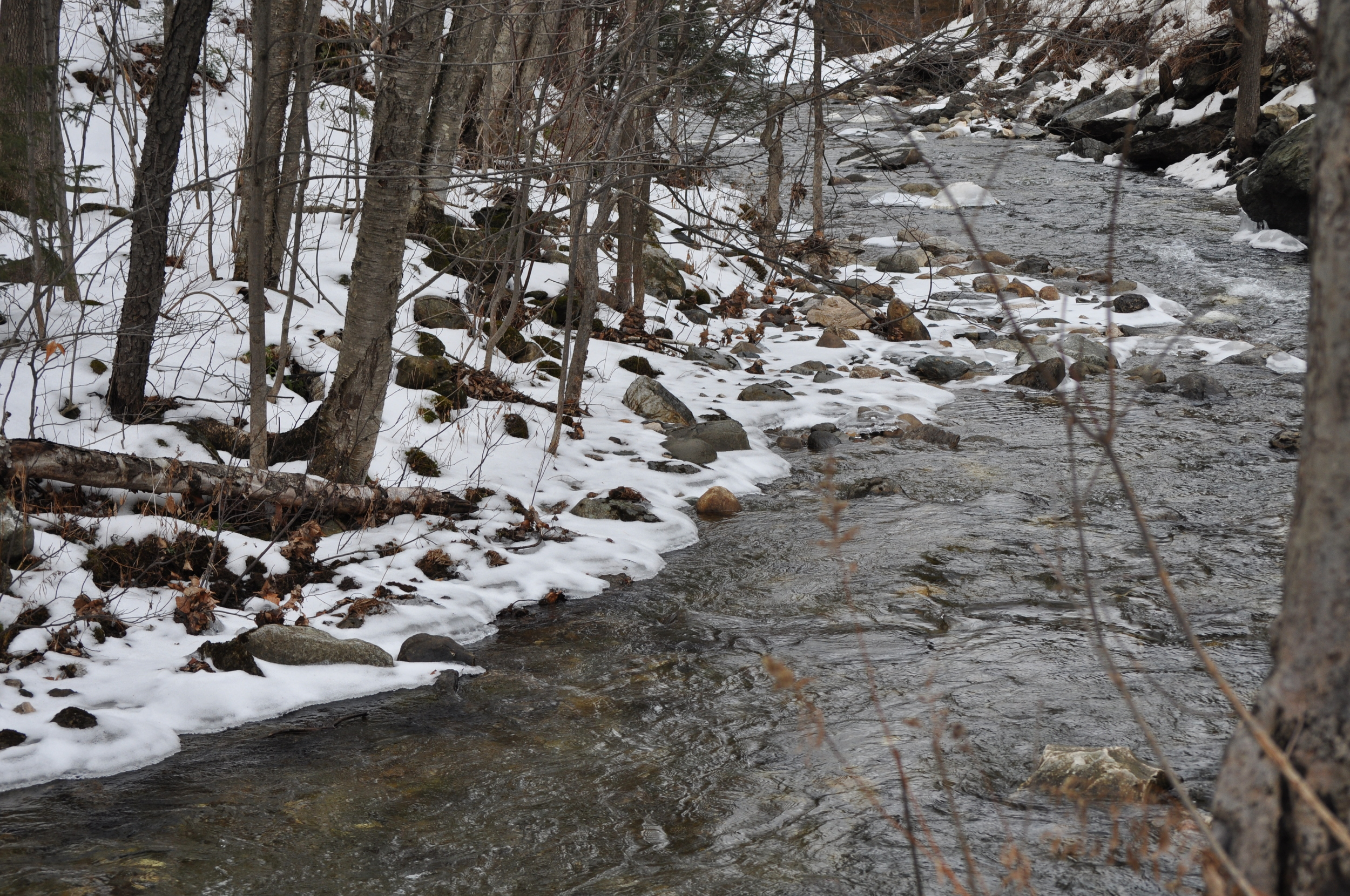 El río casi congelado. Foto: Pamy Rojas