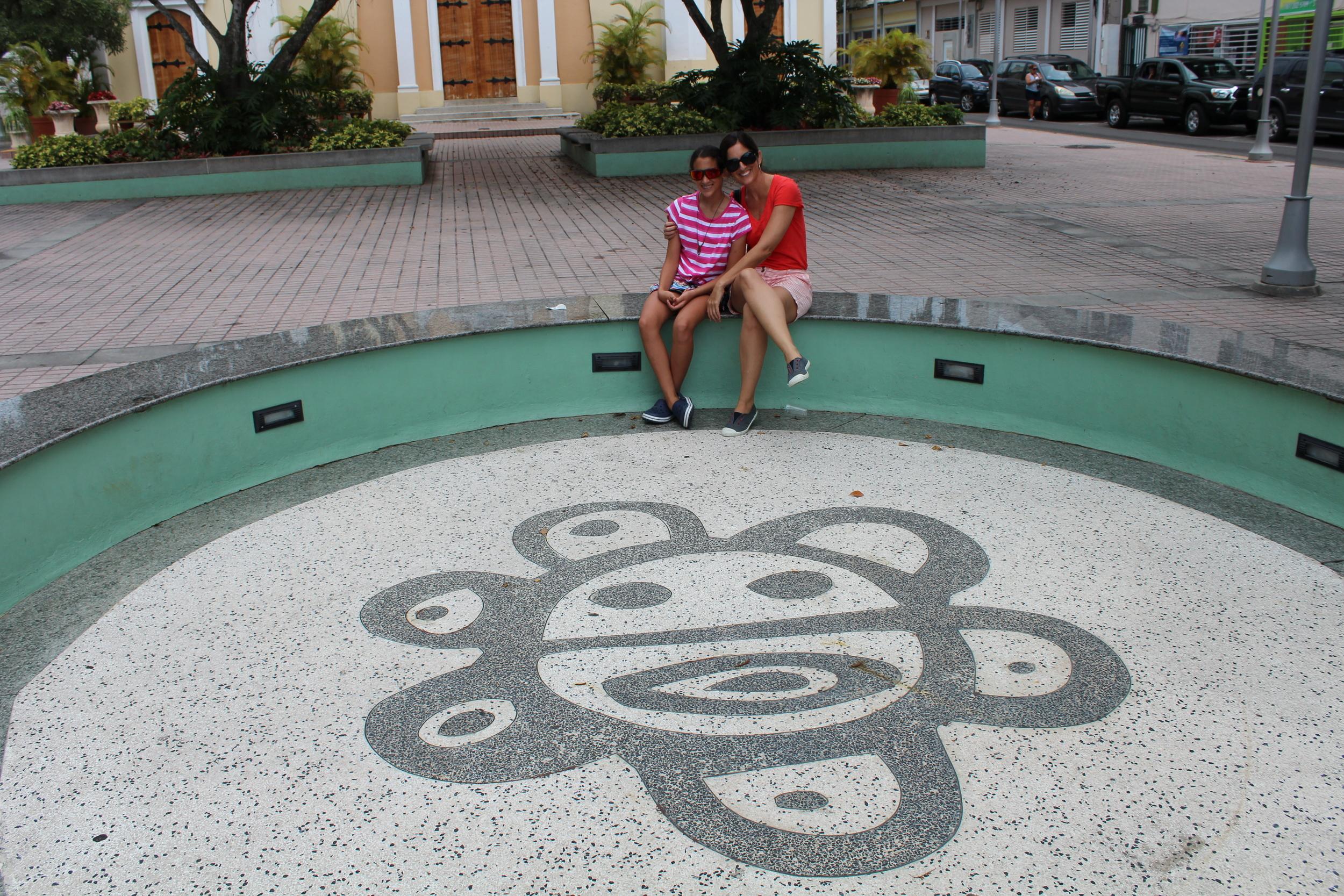 This indigenous symbol represents the sun. Photo: Javier Vélez Arocho