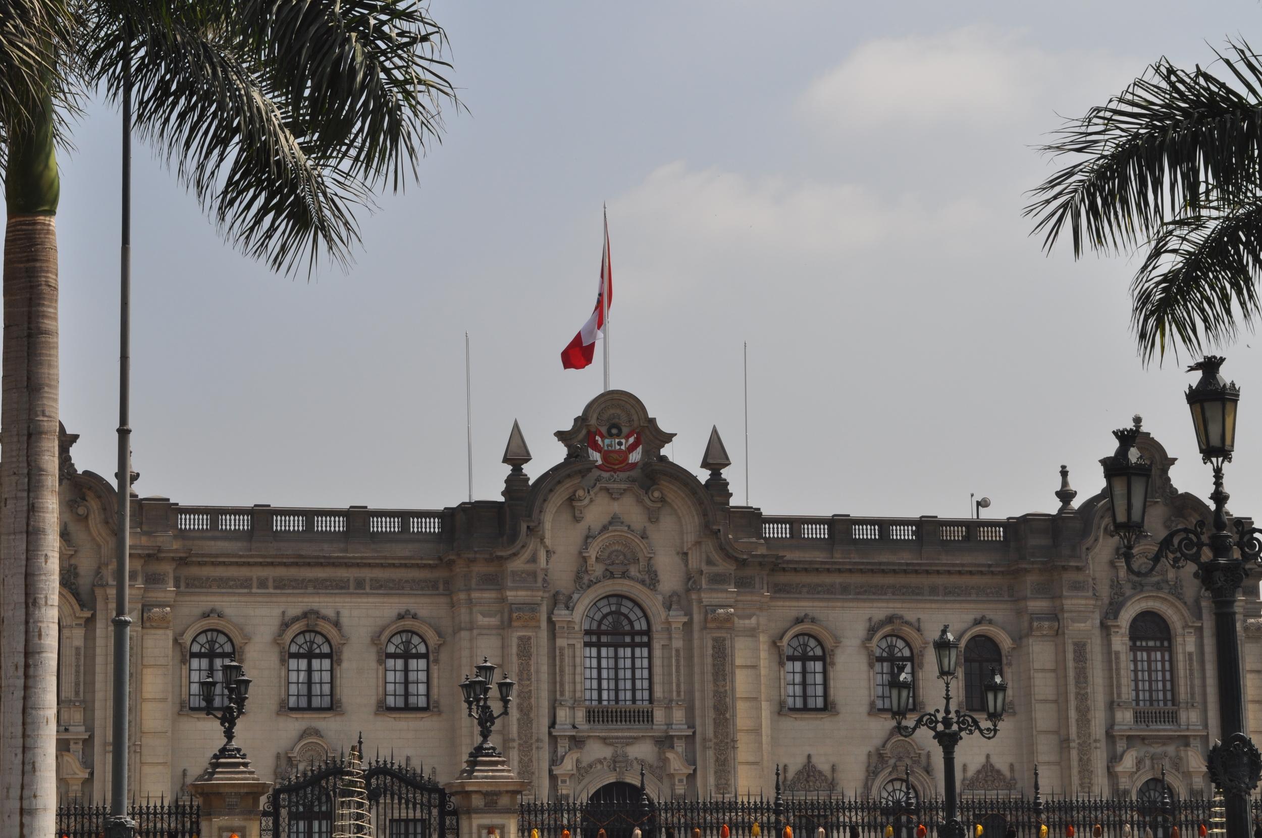 El Palacio de Gobierno de Lima. Foto: Pamy Rojas