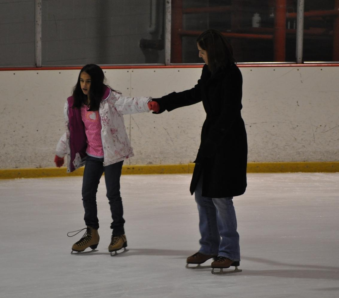 No podía faltar patinar en hielo. Foto: Fernando Rojas