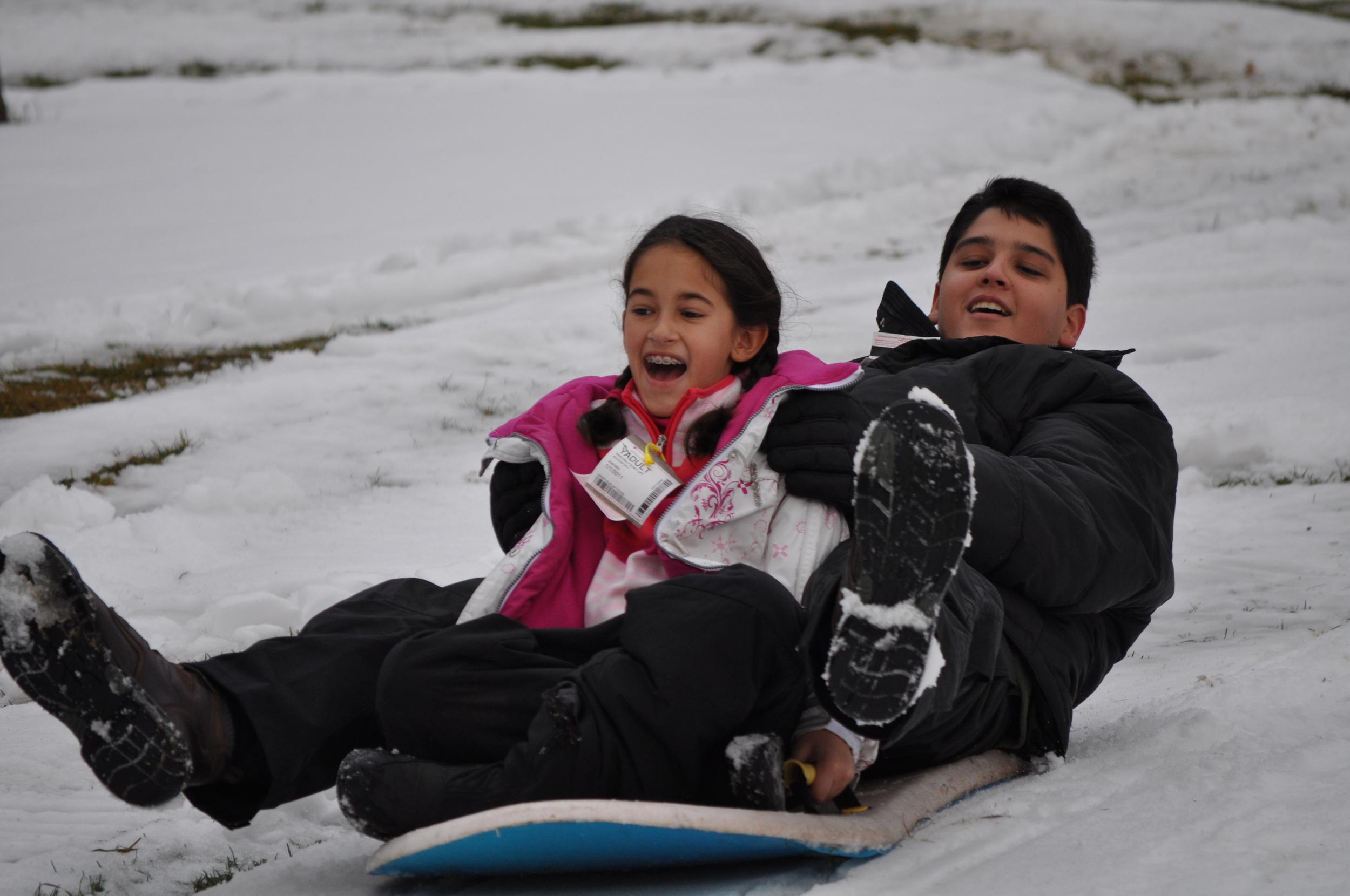 La diversión en la nieve fue continua. Foto: Pamy Rojas