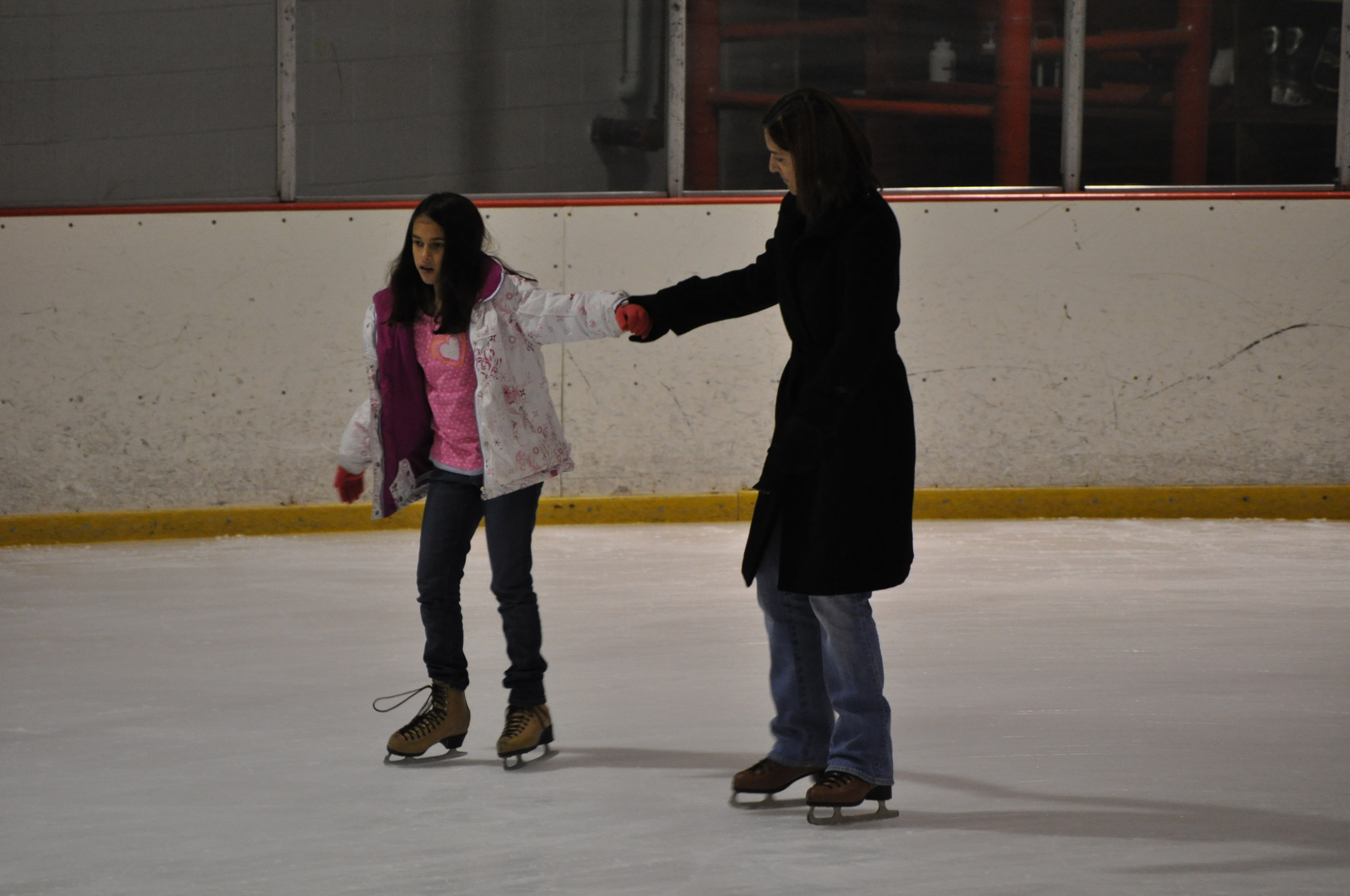 We couldn't miss ice skating. Photo: Fernando Rojas