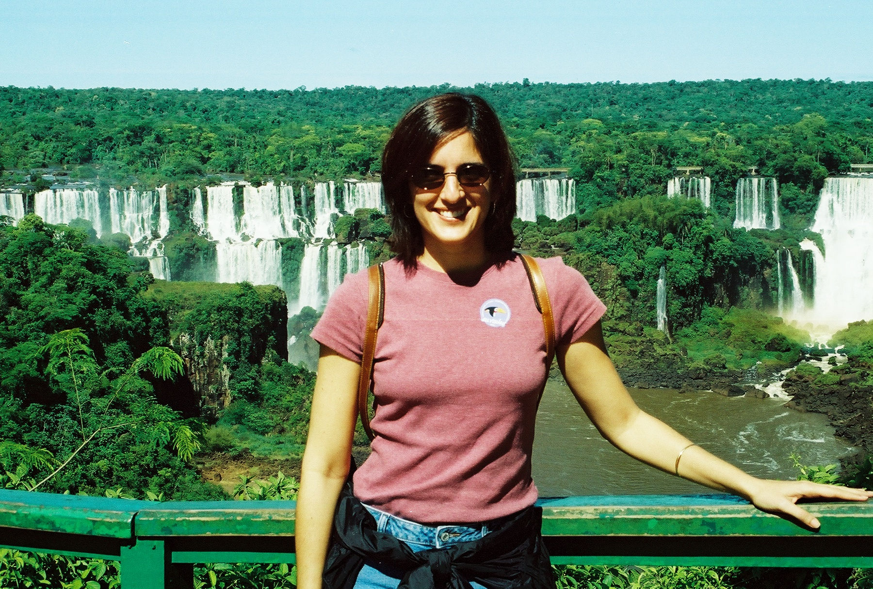 The scenery from the Brazilian side of the Iguazú Falls.
