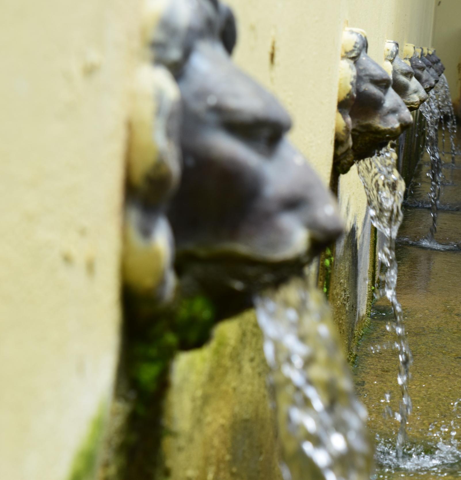 En la calle Luis Muñoz Rivera encontramosla Plaza Ojo de Agua. El incesante fluir del agua refrescael lugar. El agua aquí es eterna. Foto: Alejandro Rodríguez Rojas