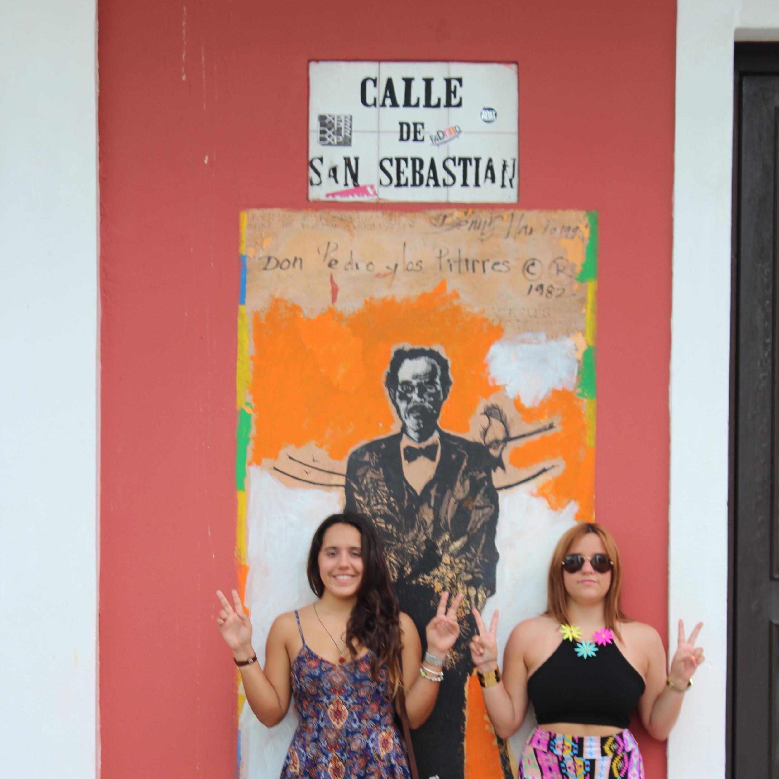 El retrato de Albizu Campos en los Hijos de Borinquen es también un clásico. Lo encuentras en el cruce de la calle San José y la San Sebastián. Foto: Alejandro Rodríguez Rojas