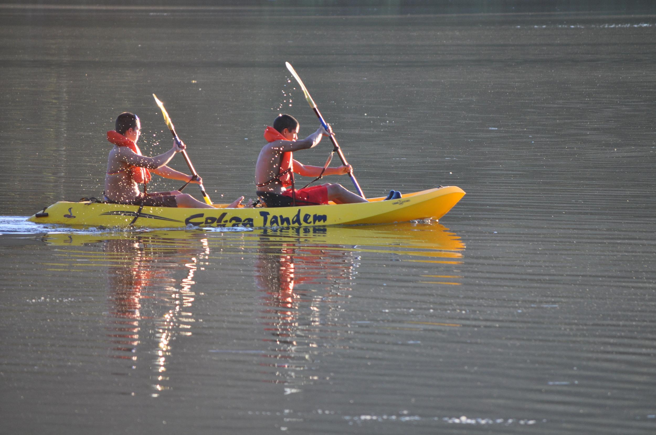 En la  Hacienda Luis , que está localizada a orillas del lago Guayo, tienen kayaks disponible para sus huéspedes. Foto: Pamy Rojas