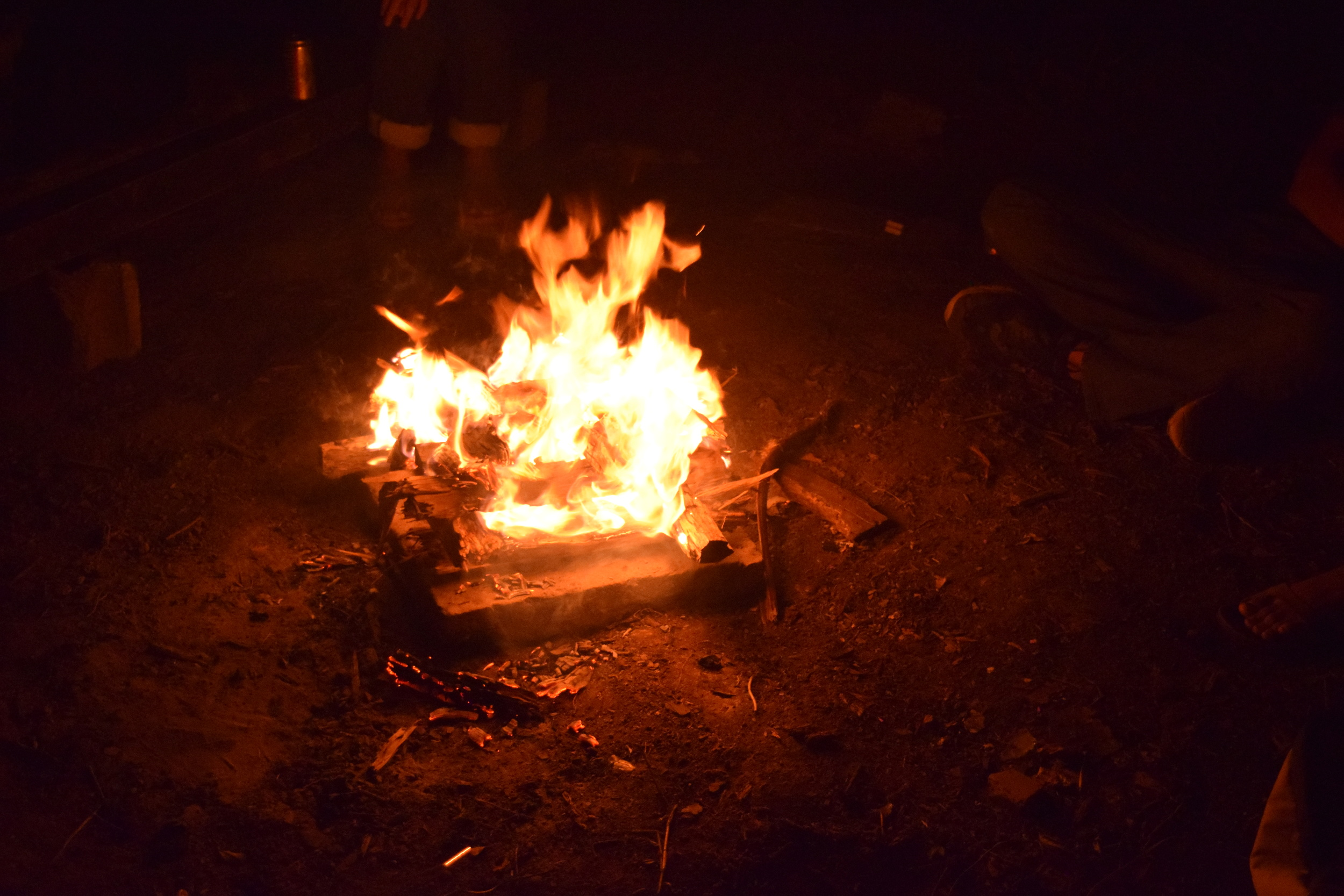 Around the bonfire, they shared opinions about the meaning of agri-ecology. Photo: Alejandro Rodz. Rojas