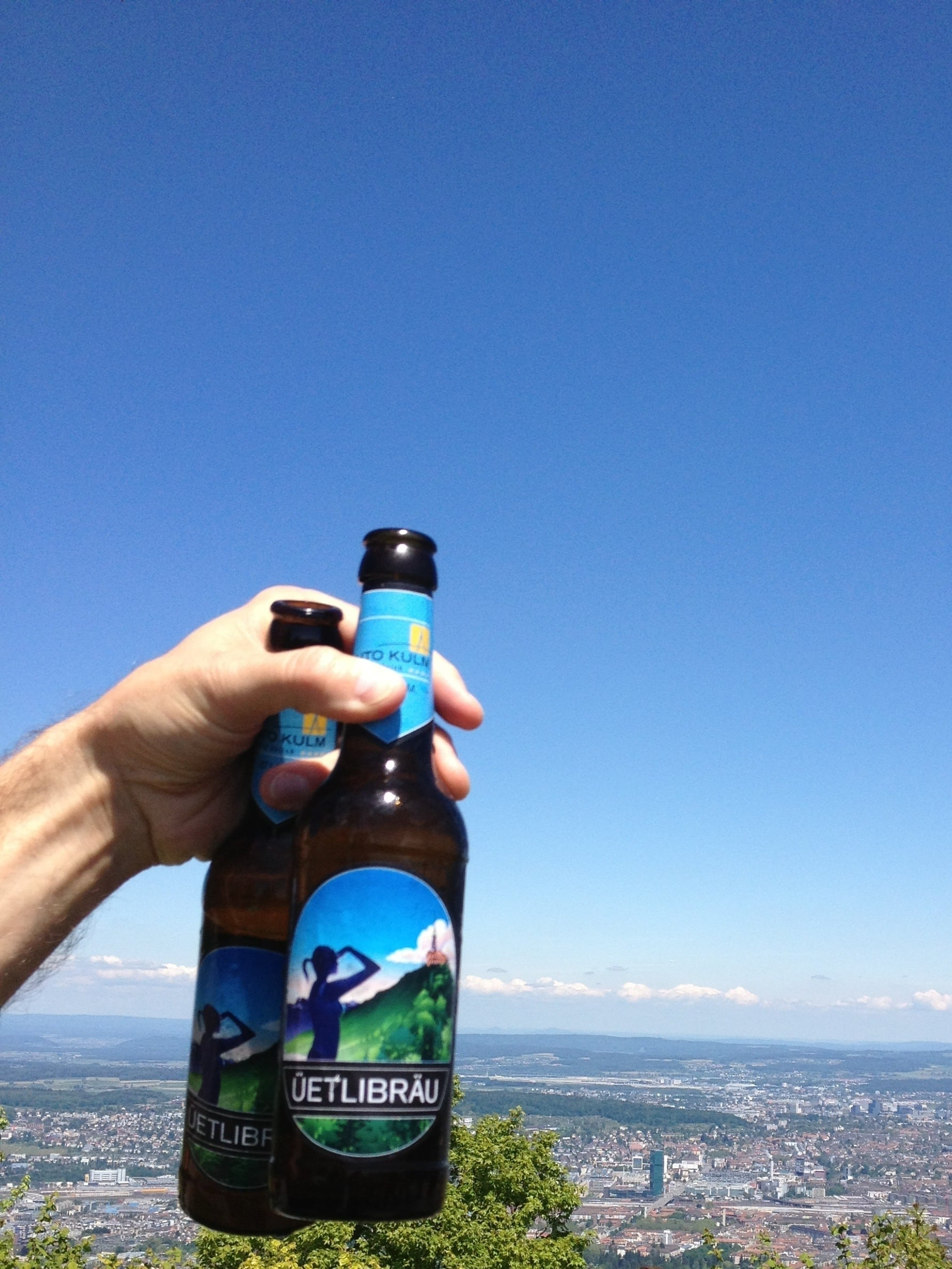 View from the Uetliberg located one thousand eight hundred fifty feet at sea level. Photo: Bruny Nieves