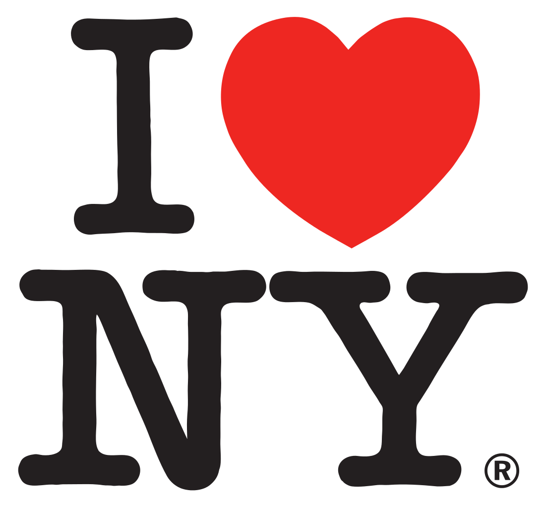 This famous person logo was created in 1977 by graphic artist Milton Glaser as part of a tourism campaign effort to restore the city's image, affected by high levels of delinquency. (freelargeimages.com)
