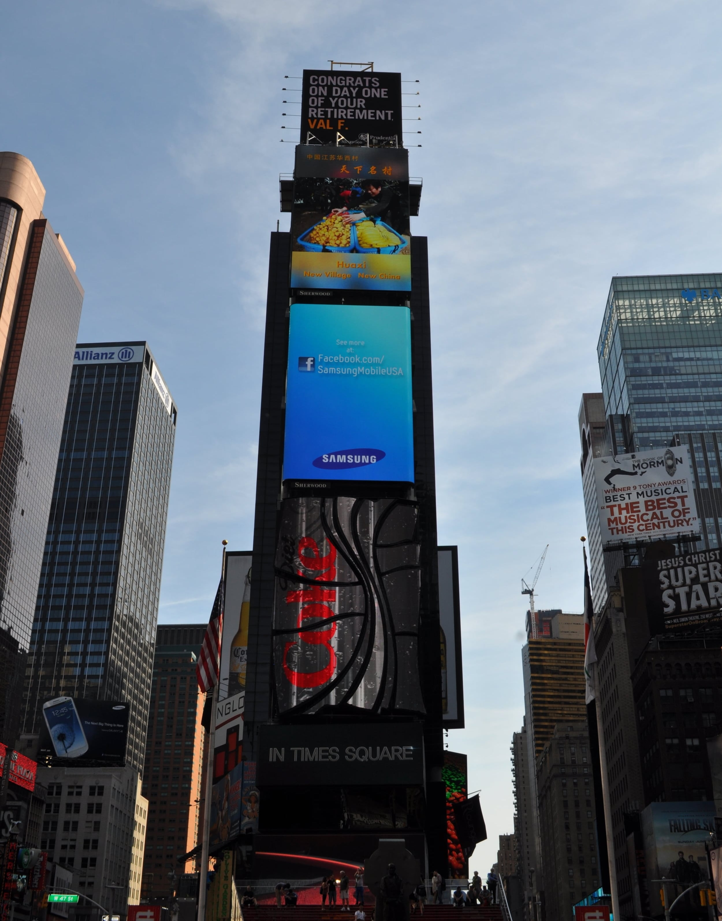 There is always something happening at Times Square. Photo: Pamy Rojas