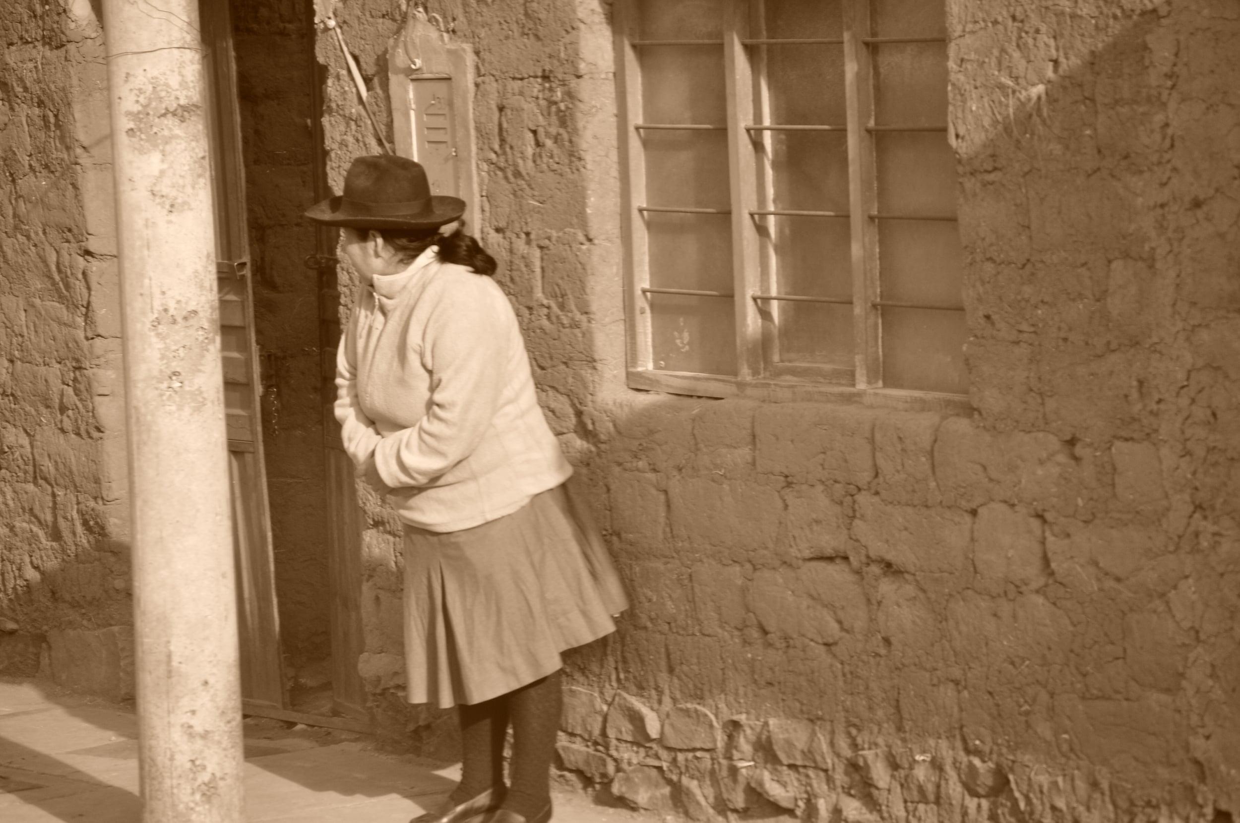 Her waiting. Photo: Pamy Rojas