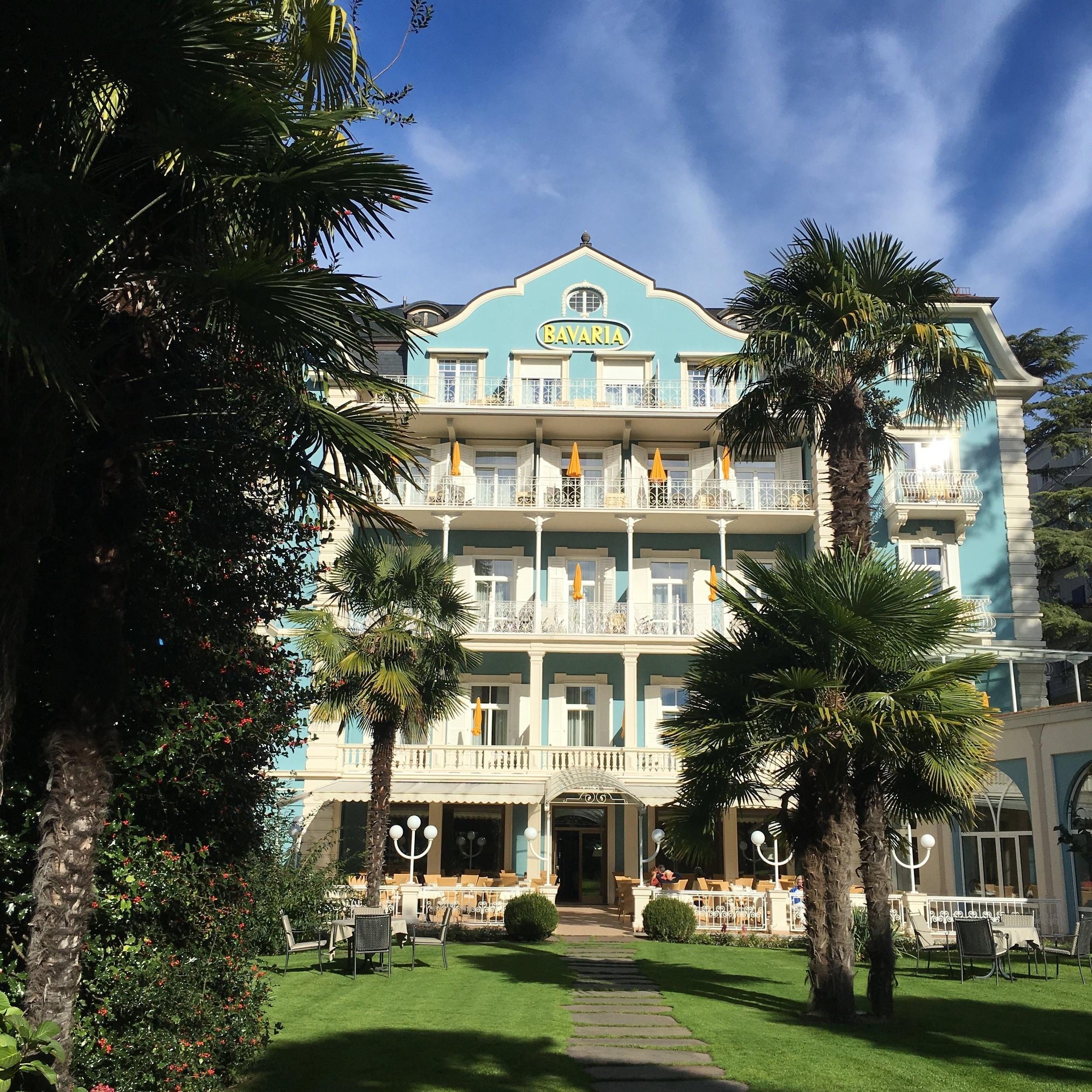 Exterior del histórico Hotel Bavaria en la ciudad de Merano, hecho famoso por la emperadora Sisi. Foto: Bruny Nieves