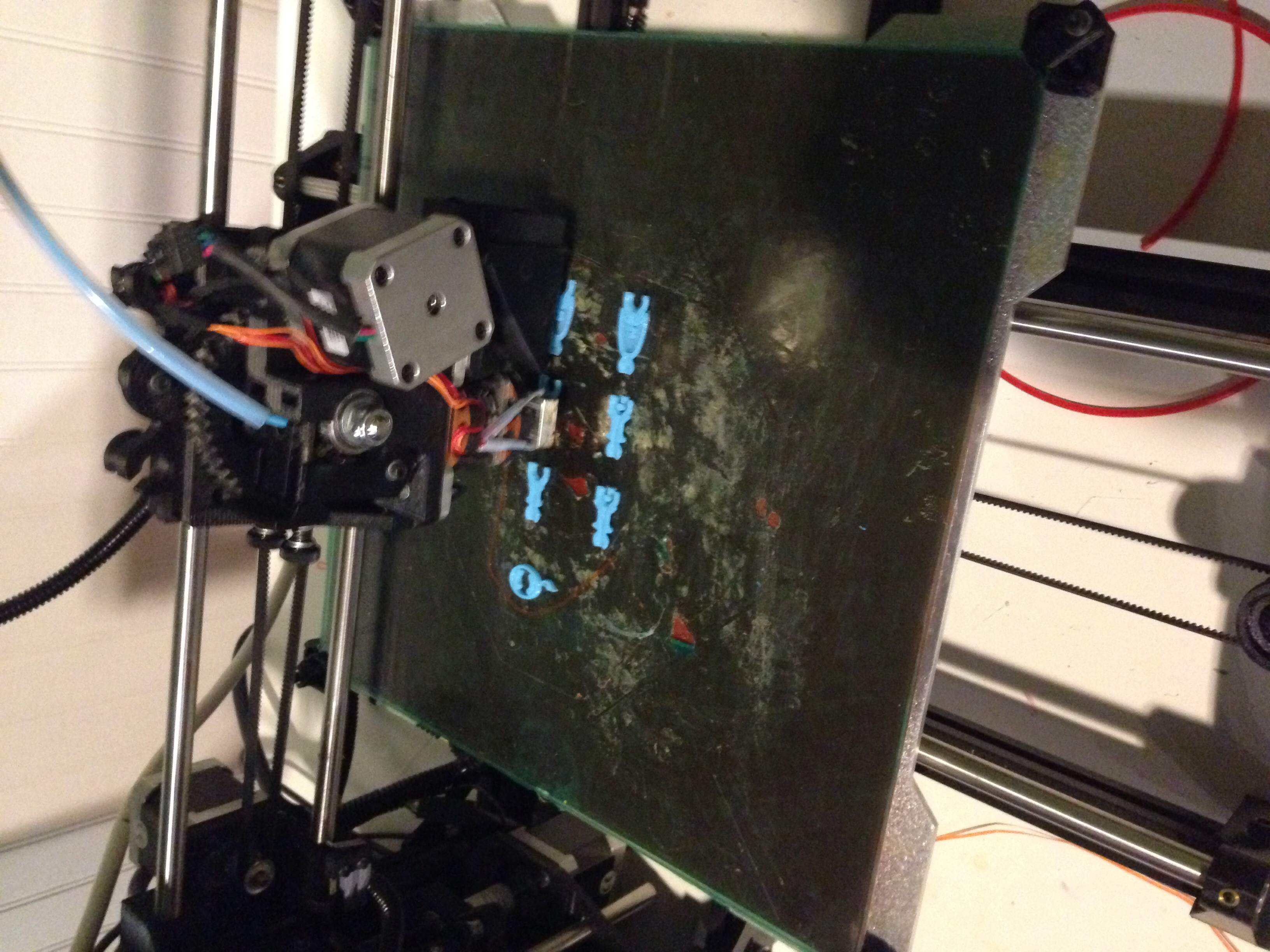 3D print machine making toy parts for a figurine.