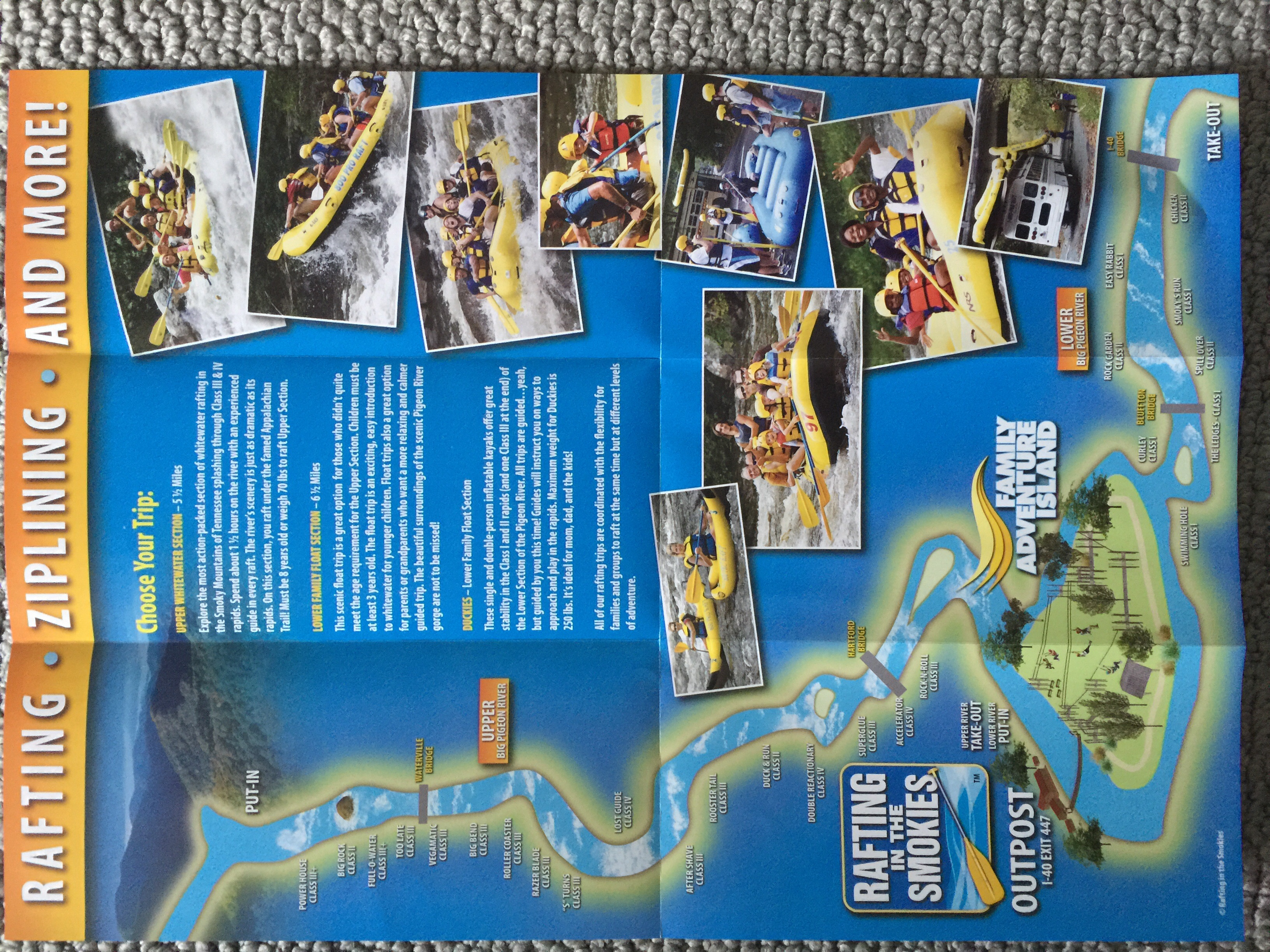 A Map of the River, Includig Family Adventure Island