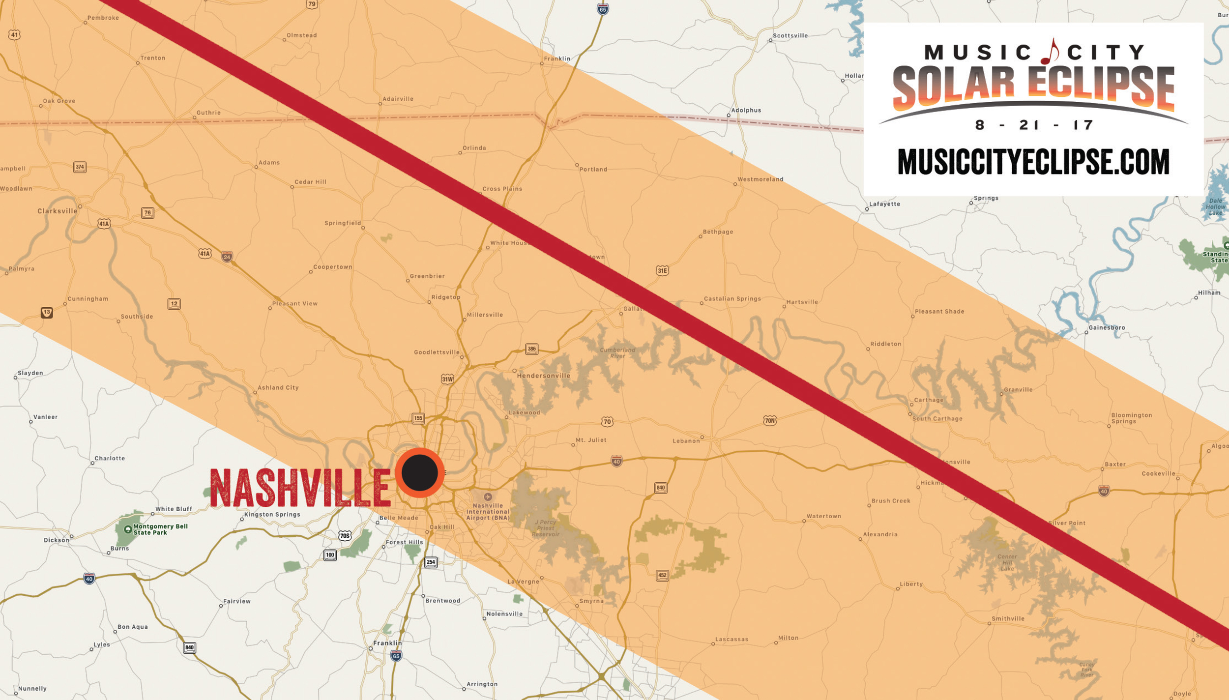 Watching the solar eclipse in Nashville? Read this first. Photo courtesy of: Visit Music City