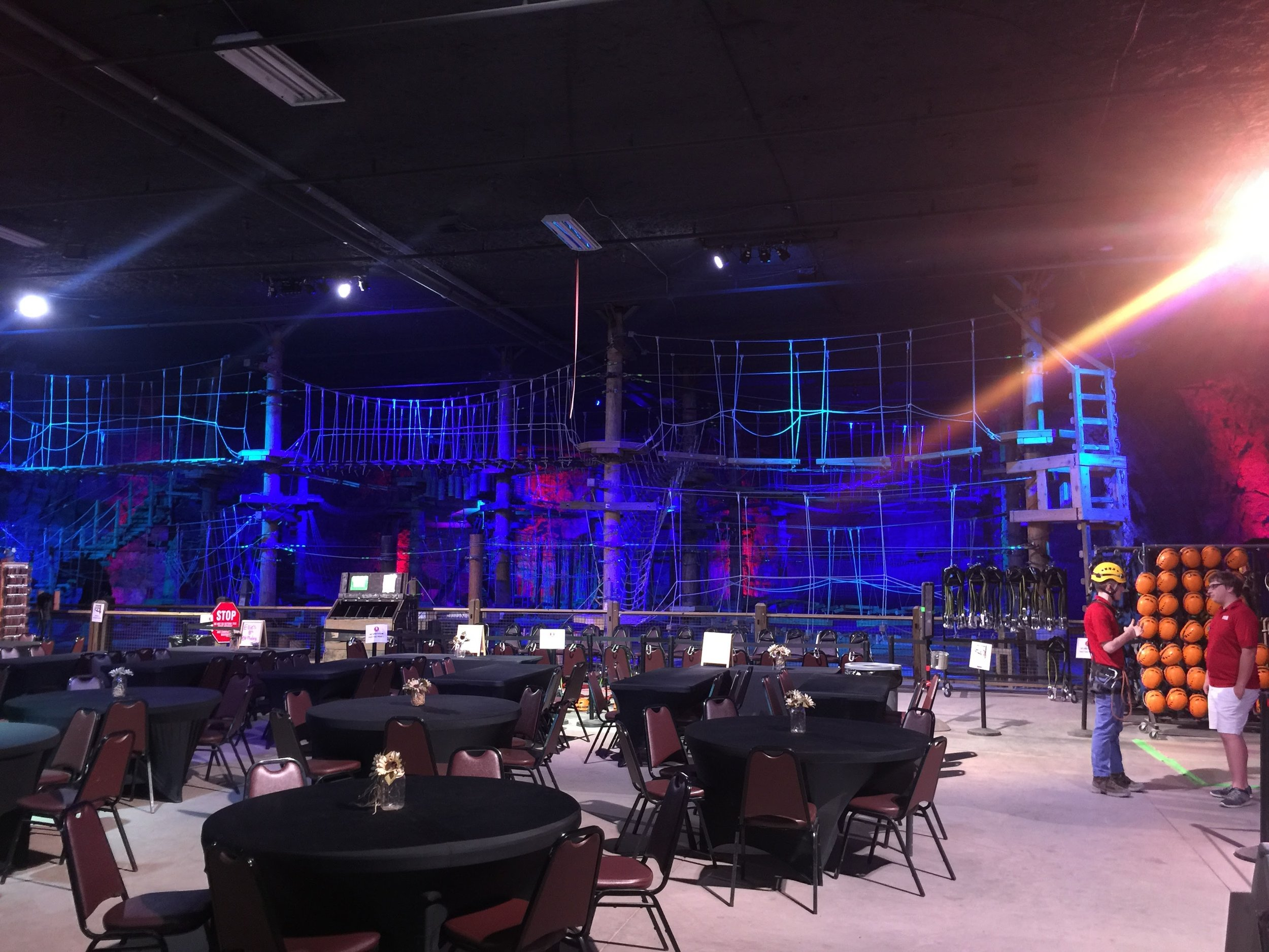 Louisville Mega Cavern Ropes Course