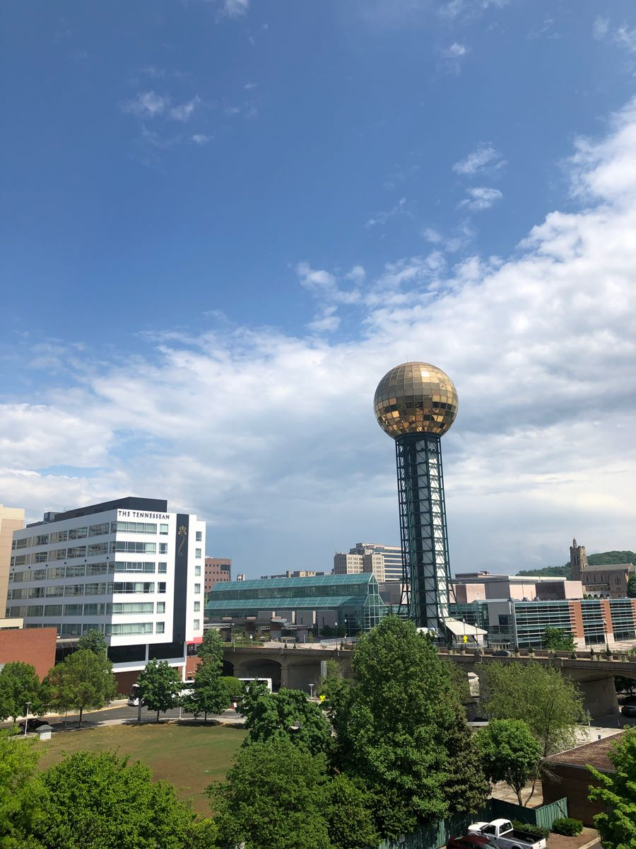 Sunsphere and downtown Knoxville