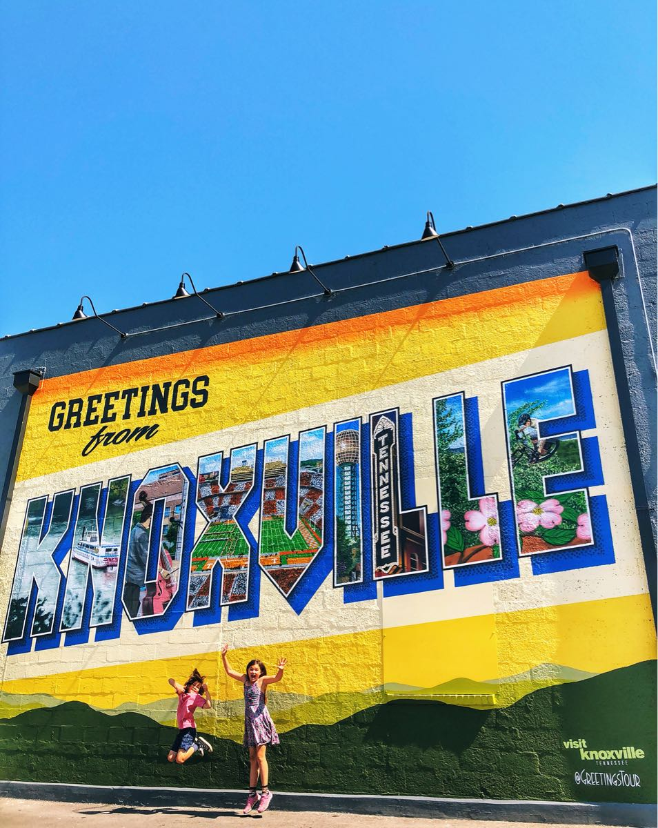 K Brew mural and Greetings from Knoxville