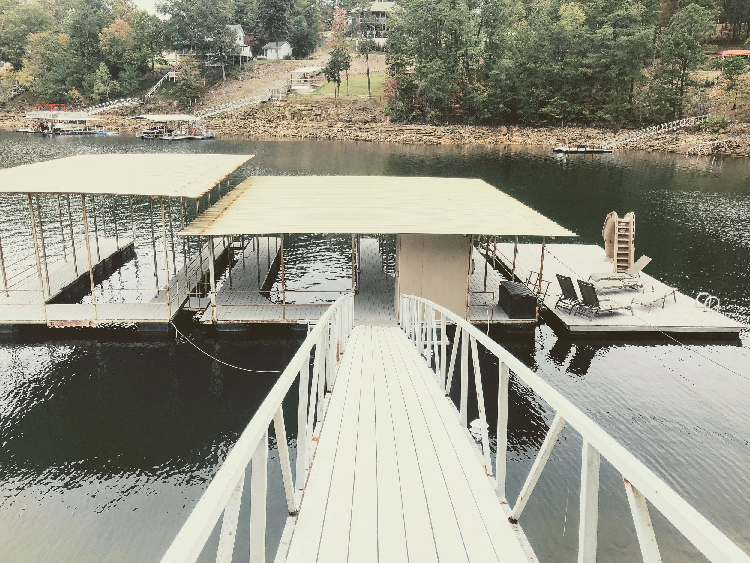The cabin comes complete with its own dock!