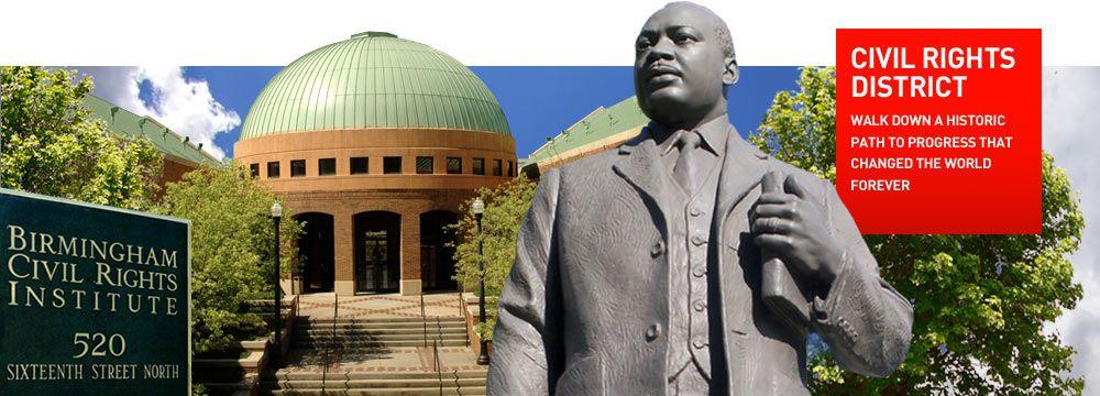 Civil Rights District, Birmingham, Photo via  Pinterest