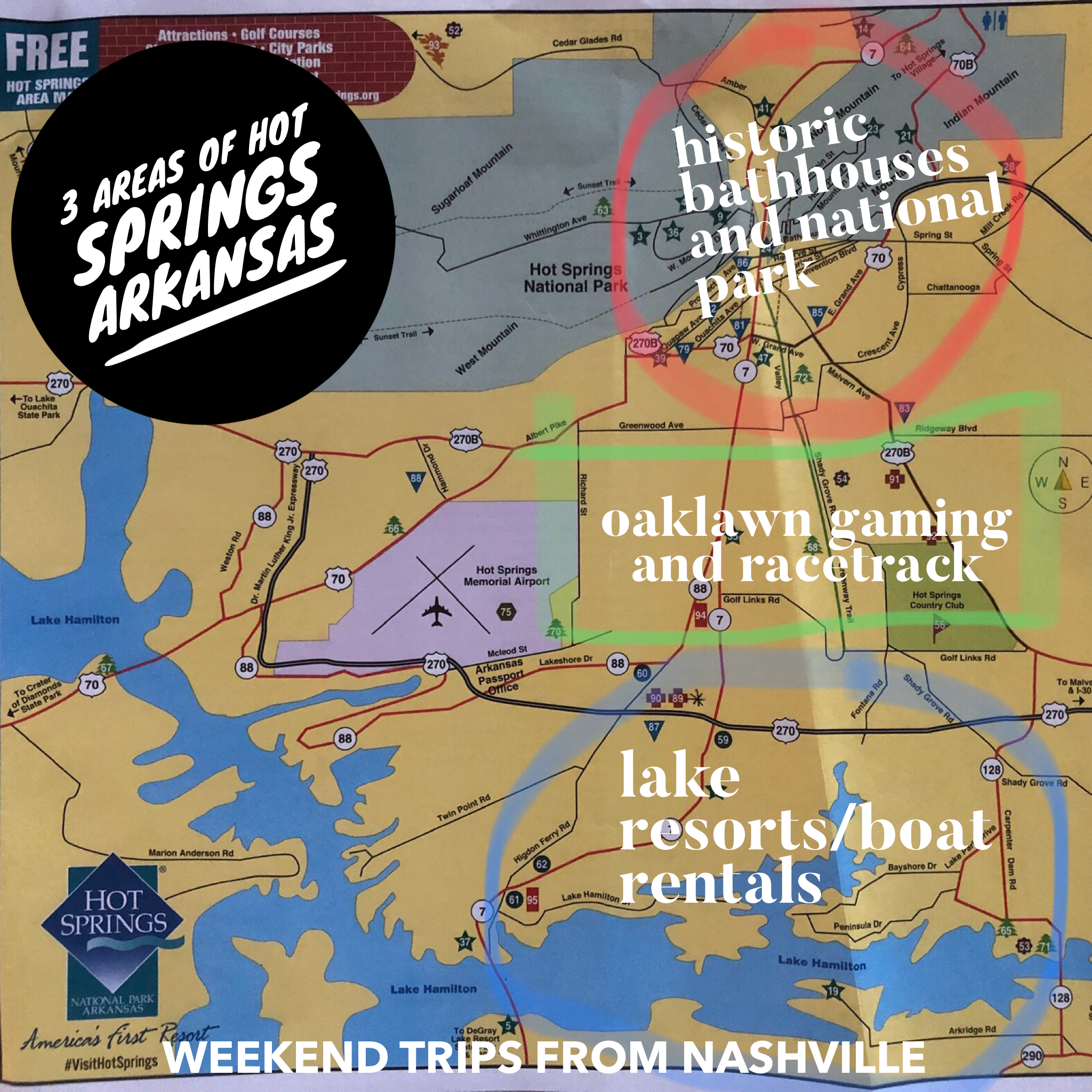 An overview of Hot Springs, Arkansas via Weekend Trips from Nashville
